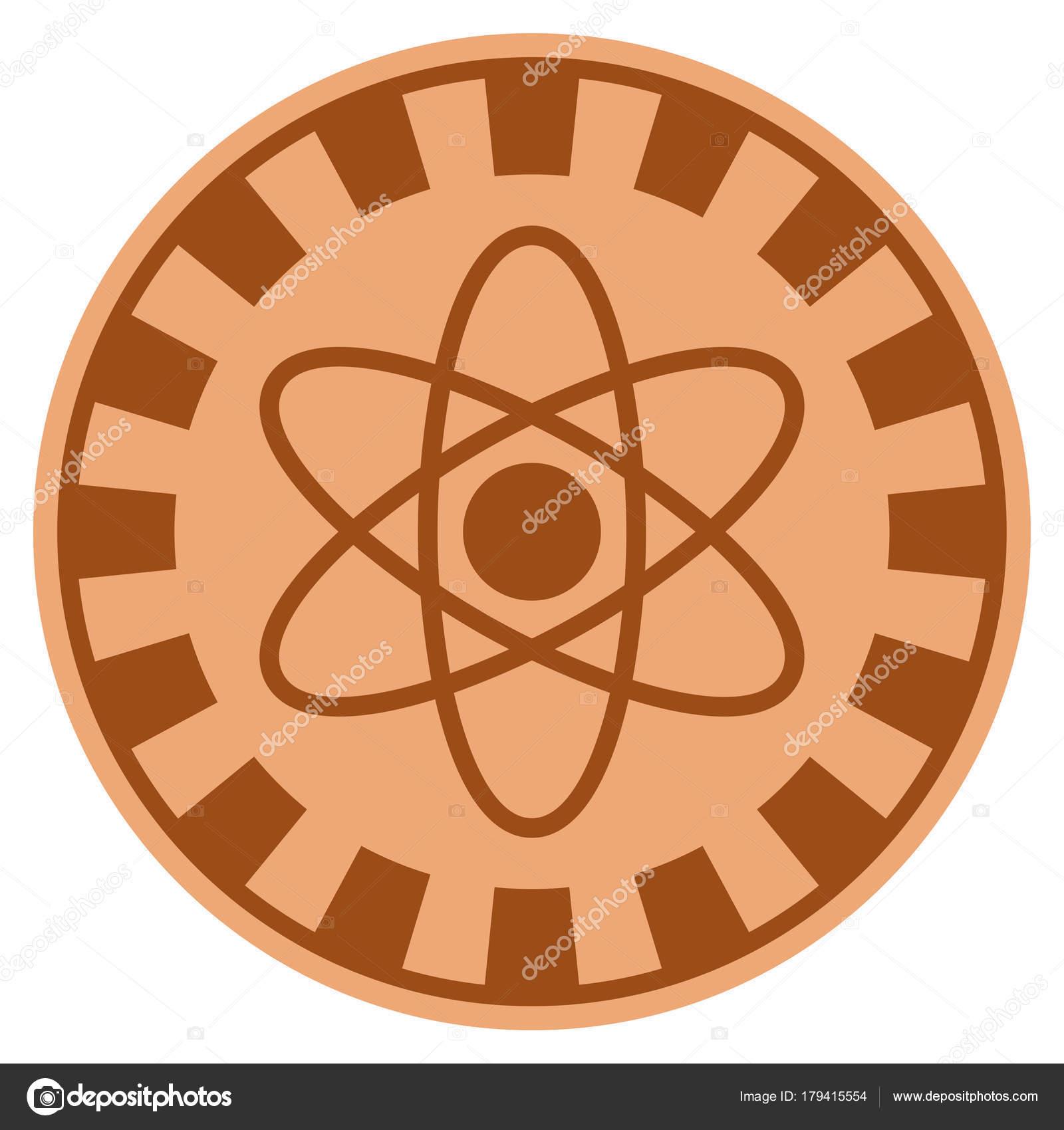 Atom Copper Casino Chip Stock Vector Ahasoft 179415554