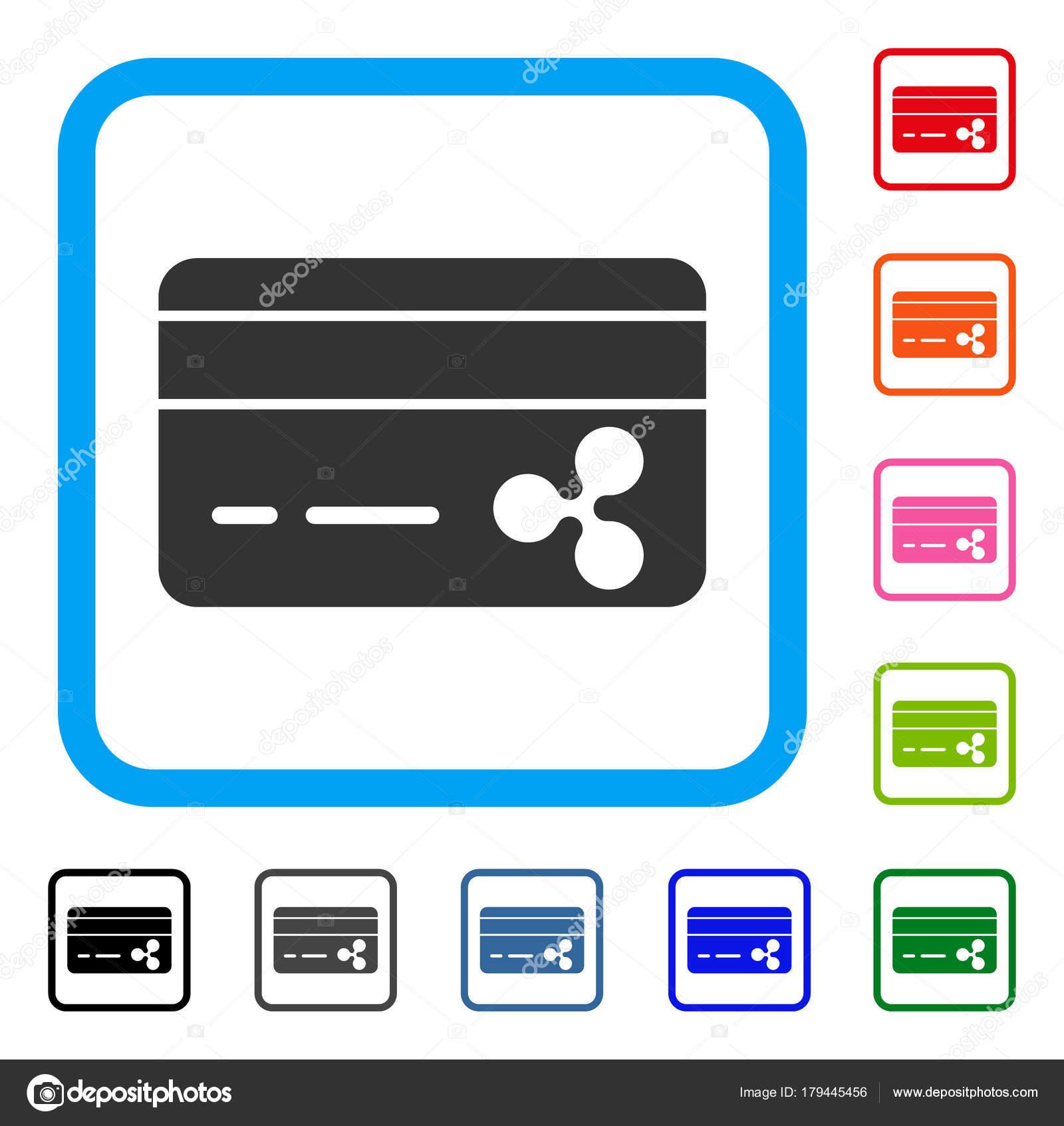 Welligkeit Banking Karte gerahmt Symbol — Stockvektor © ahasoft ...