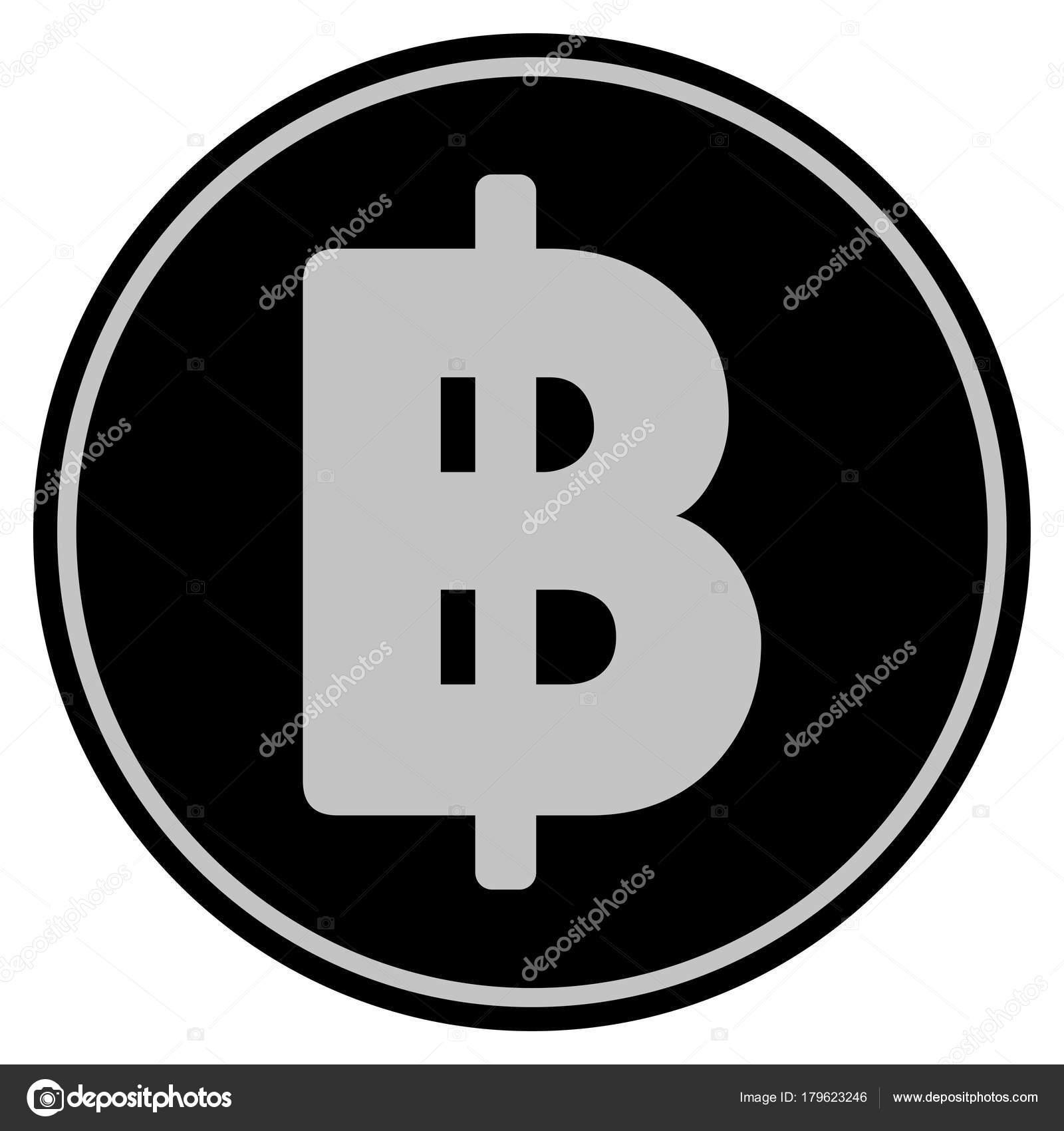 Thai Baht Black Coin Stock Vector Ahasoft 179623246