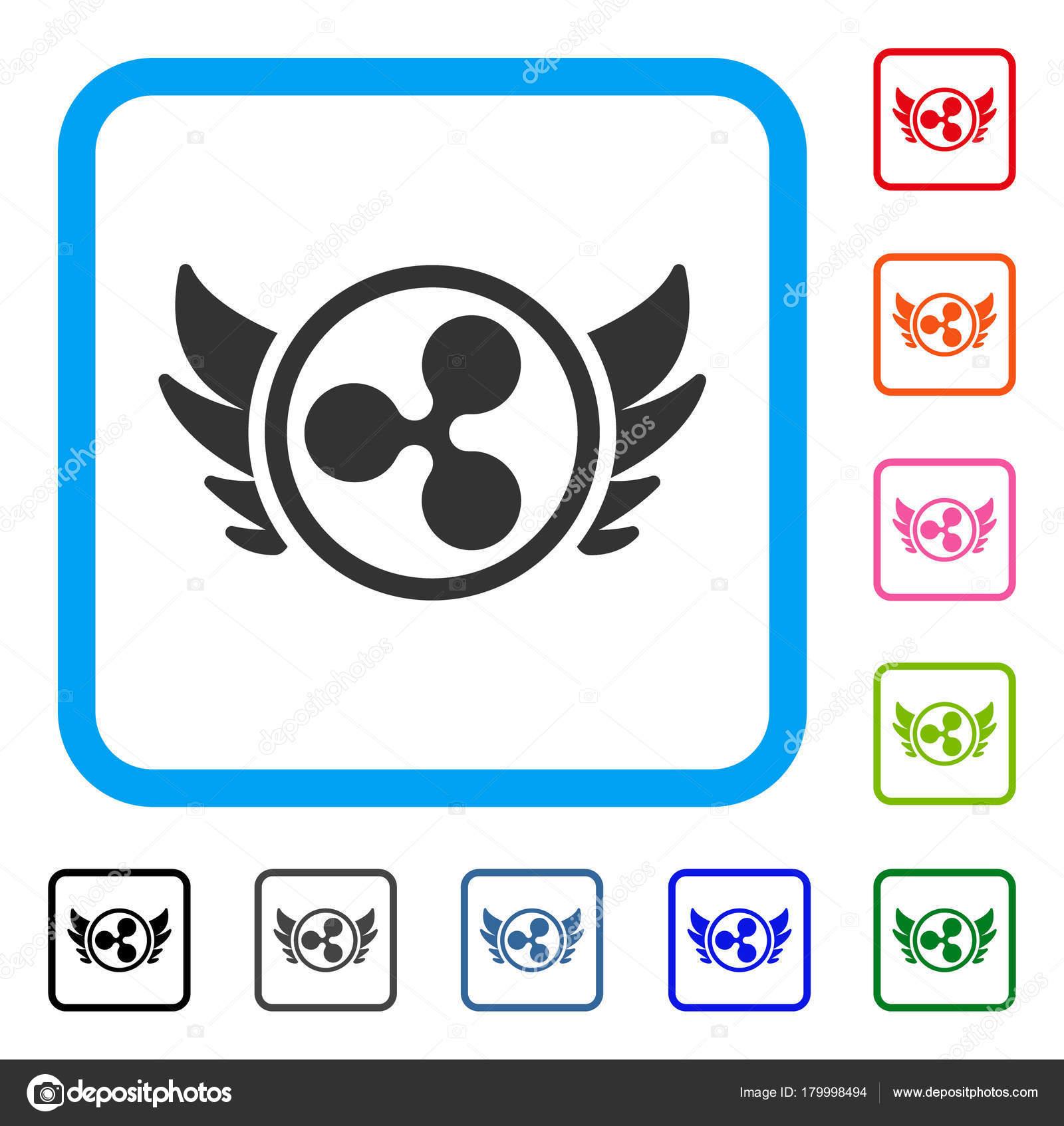 Inversión de Angel rizo enmarcada icono — Vector de stock © ahasoft ...
