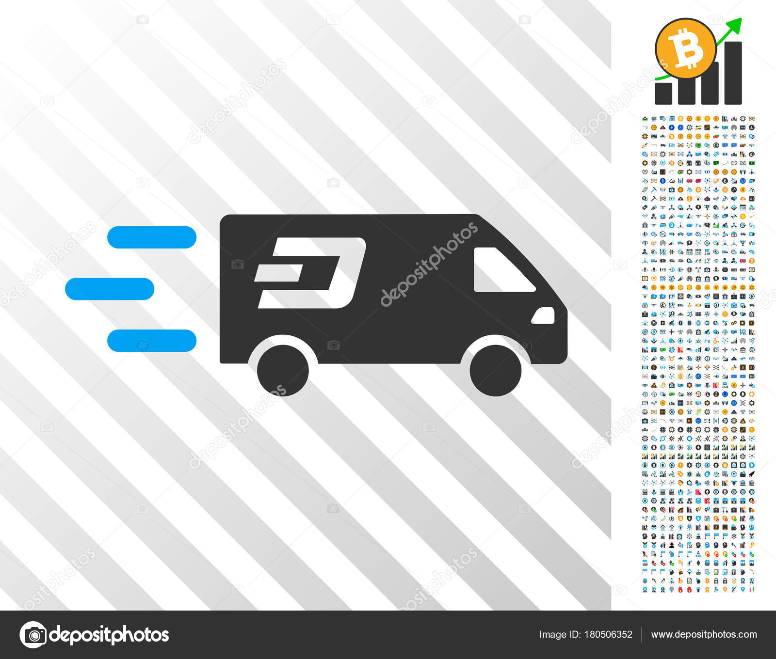 Fast Dash Delivery Car Flat Icon with Bonus — Stock Vector © ahasoft