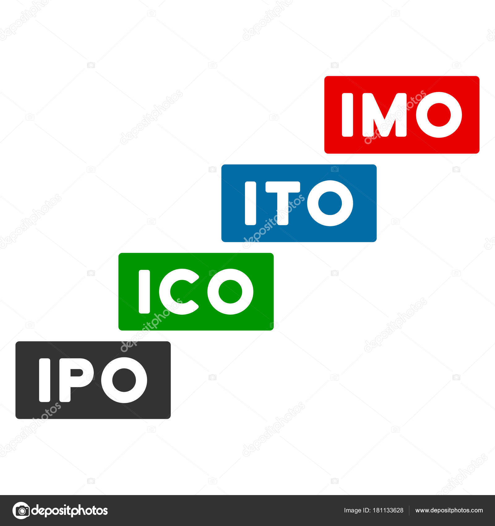Imo Levels Flat Icon Stock Vector Ahasoft 181133628