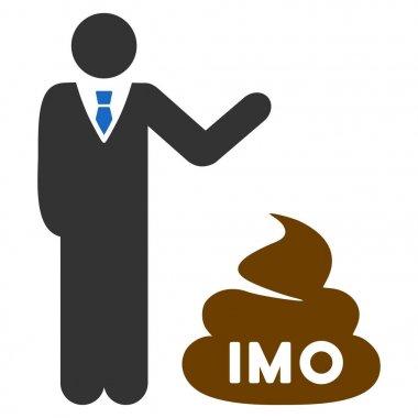 Businessman Show Imo Shit Flat Icon