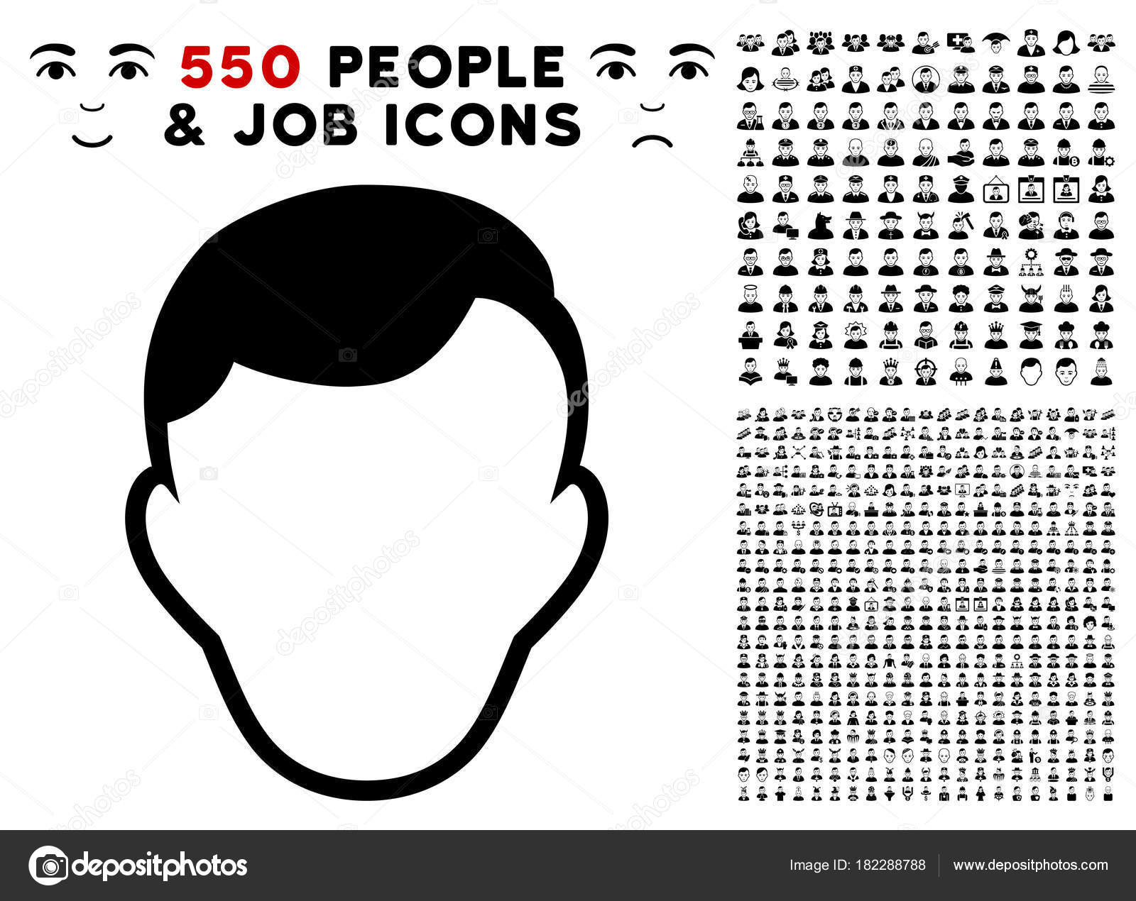 Face Template Icon with Bonus — Stock Vector © ahasoft