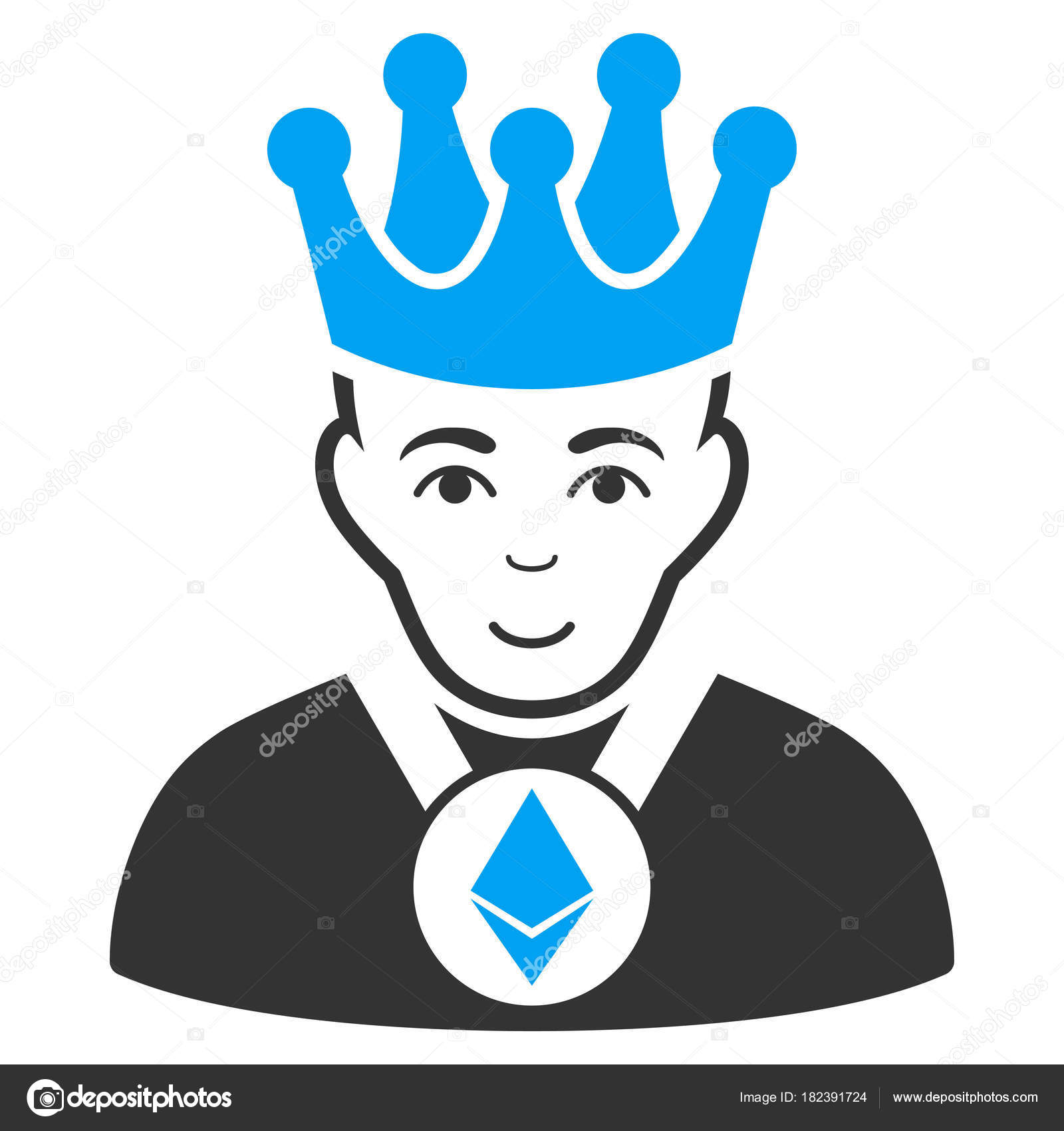 f55a8a82496 Ethereum Lord vector icon. Style is flat graphic bicolor symbol