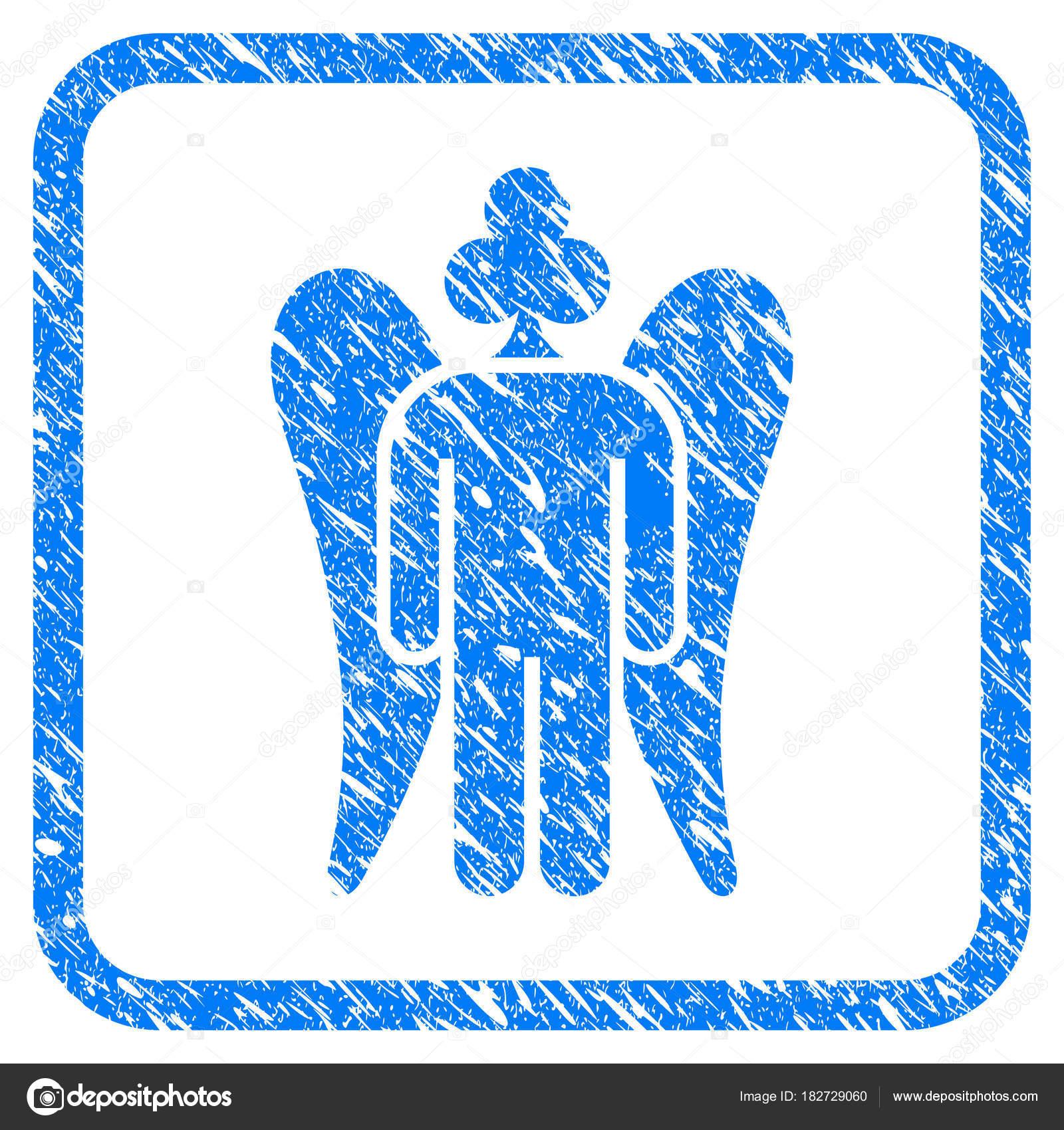 Juego Angel enmarcada icono del Grunge — Archivo Imágenes ...