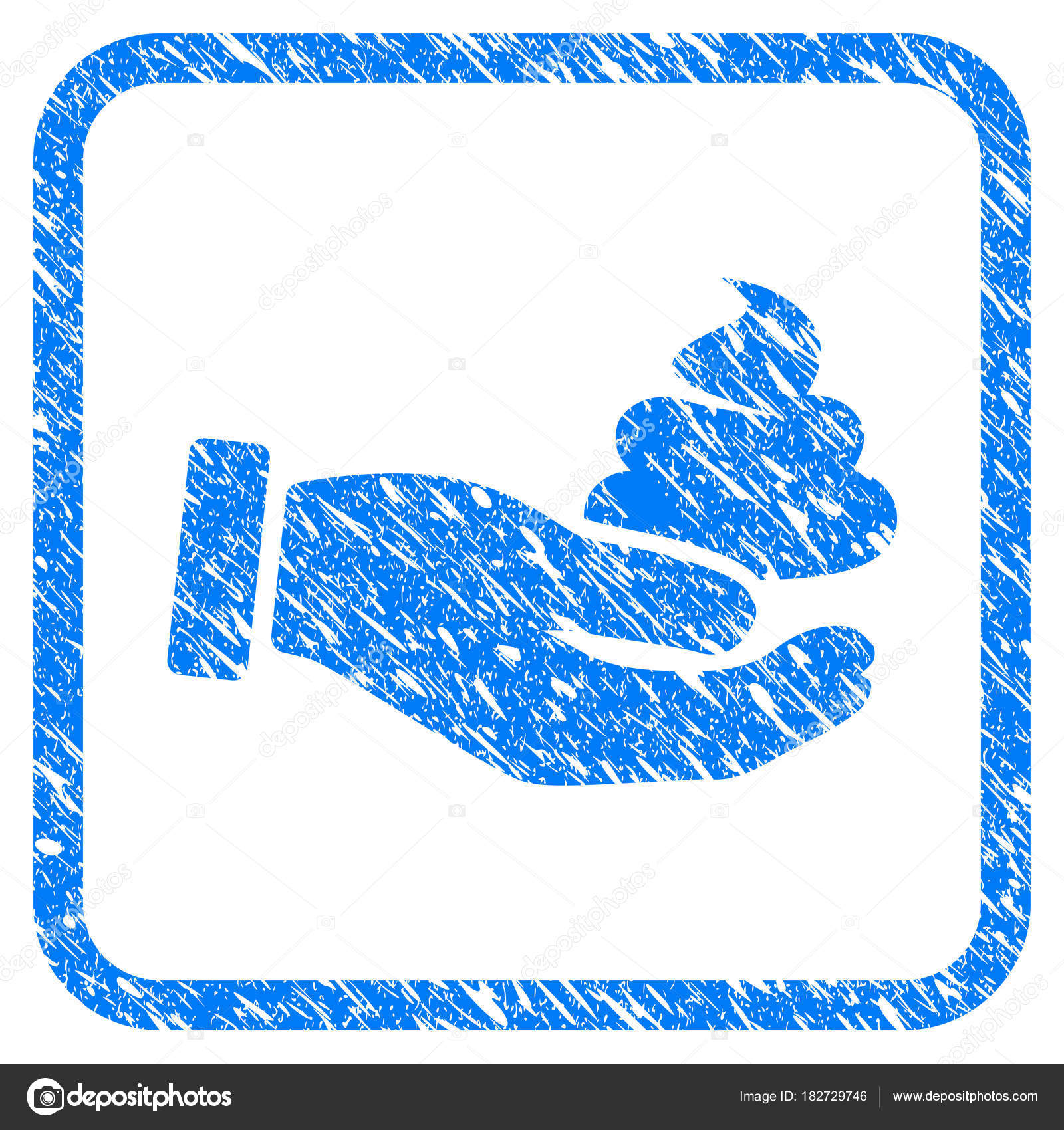 Hand offer shit framed grunge icon stock vector ahasoft 182729746 flat symbol with dirty texture framed vector blue rubber seal stamp with grunge design of hand offer shit biocorpaavc Choice Image