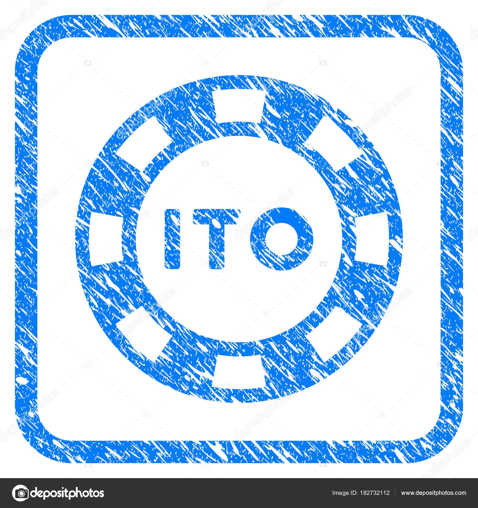 ito token framed grunge icon stock vector ahasoft 182732112