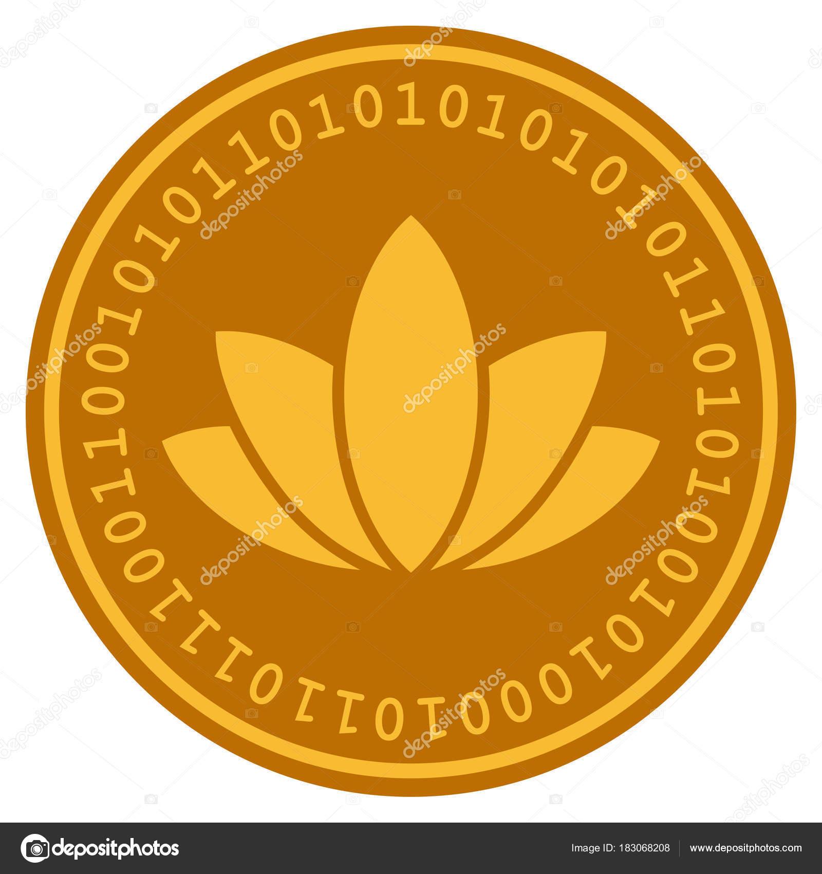 Lotus Flower Digital Coin Stock Vector Ahasoft 183068208