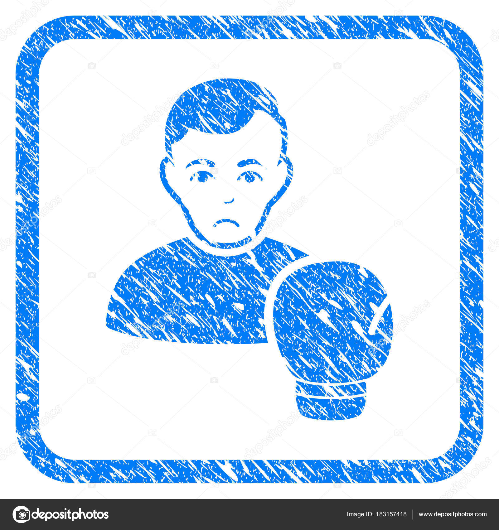 Boxing Sportsman Framed Stamp — Stock Vector © ahasoft #183157418