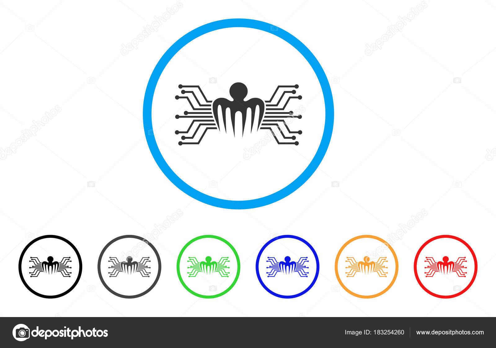Elektronische Schaltung Spectre Vektor Icon — Stockvektor © ahasoft ...
