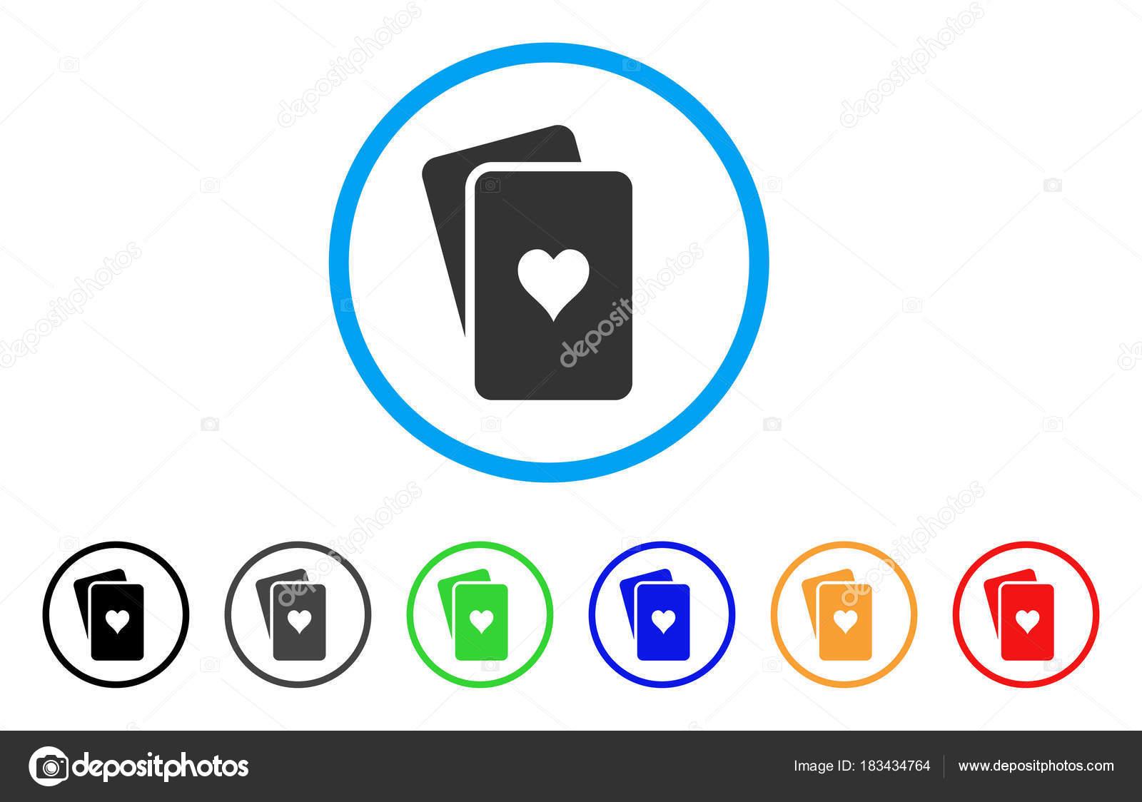 Icono de Vector de jugando a las cartas de corazones — Vector de ...