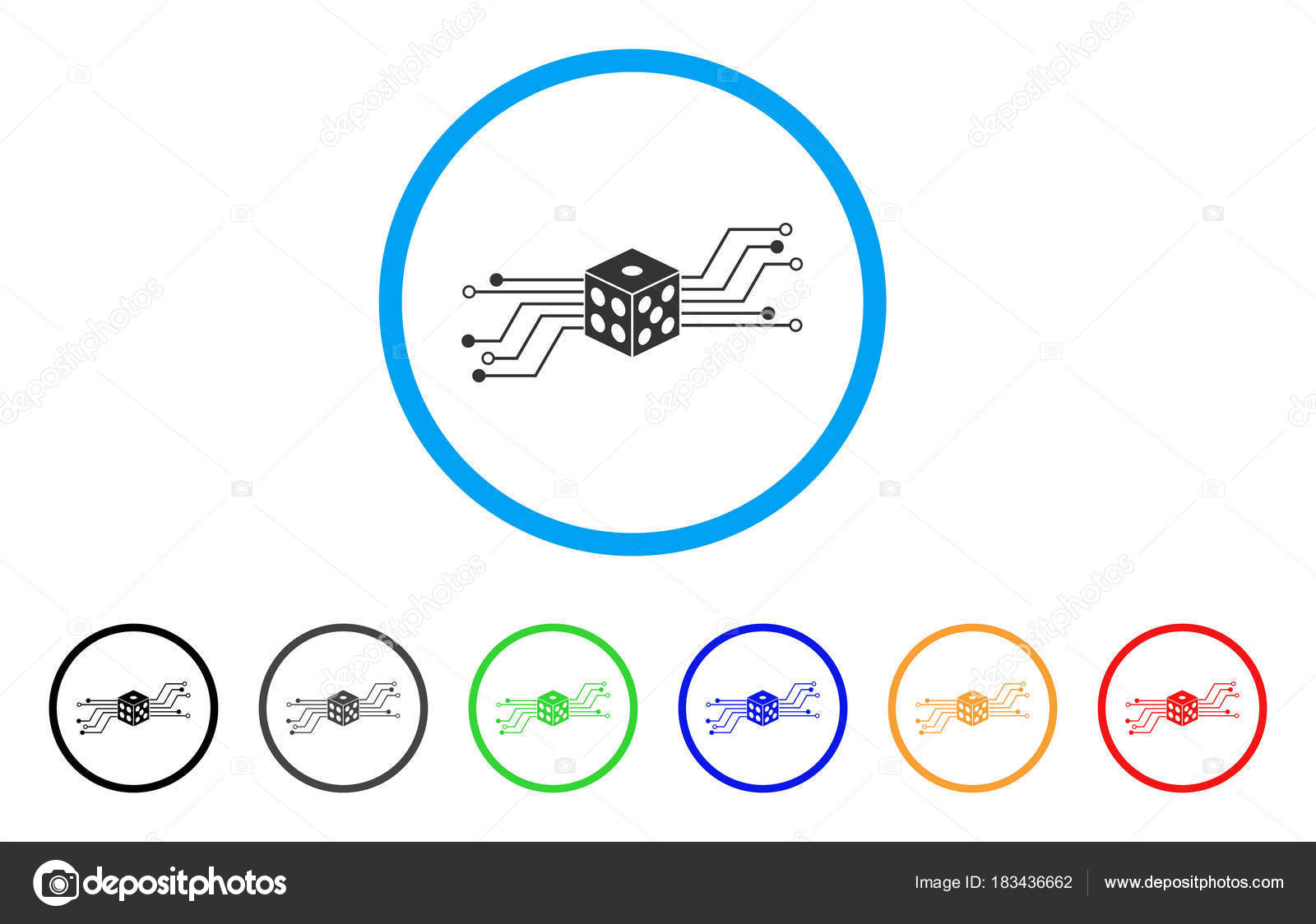 Modern Electronic Dice Circuit Sketch Electrical Diagram Ideas Digital Vector Icon Stock Ahasoft 183436662