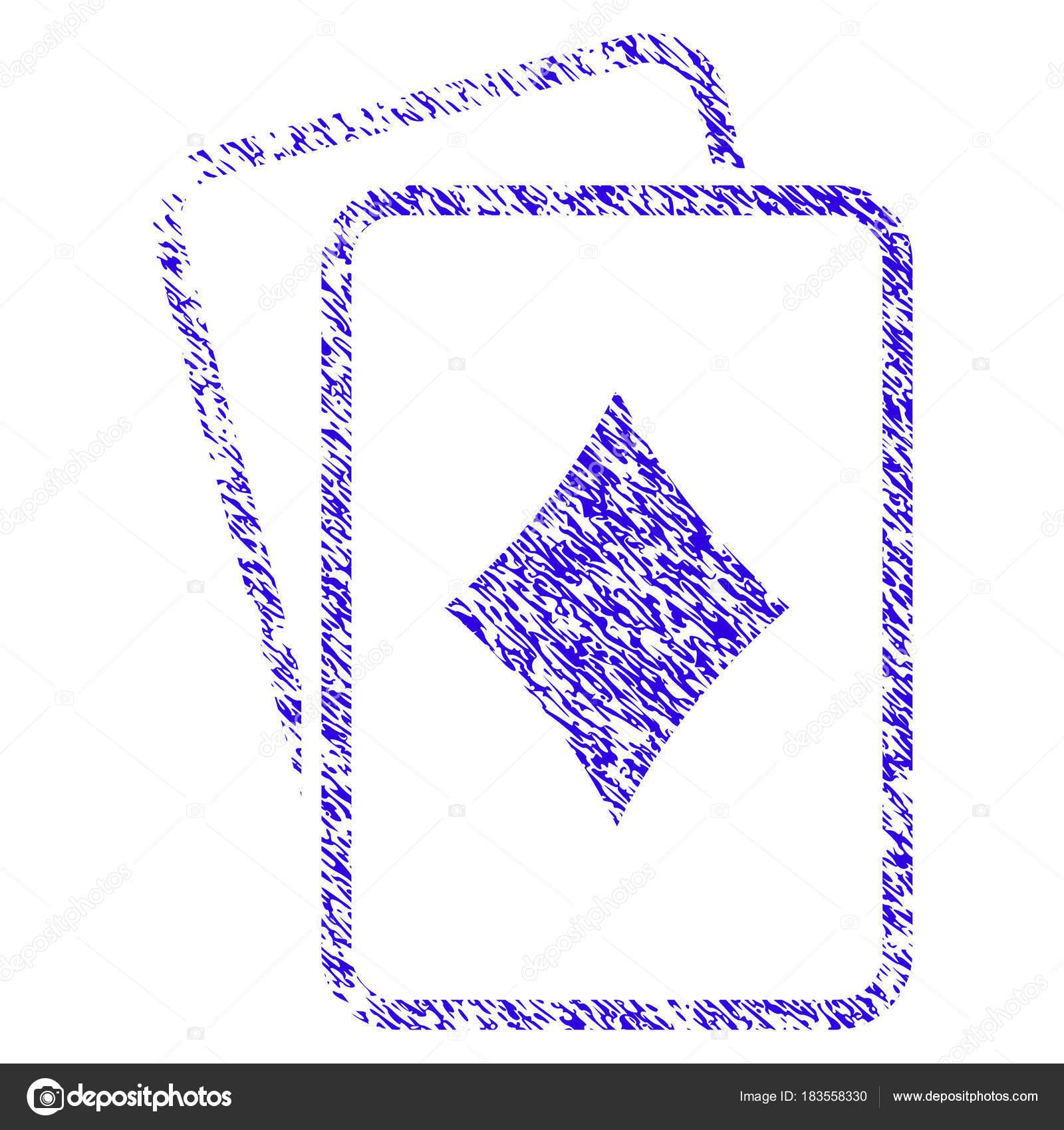 Diamantes juegos de azar cartas icono Grunge filigrana — Archivo ...