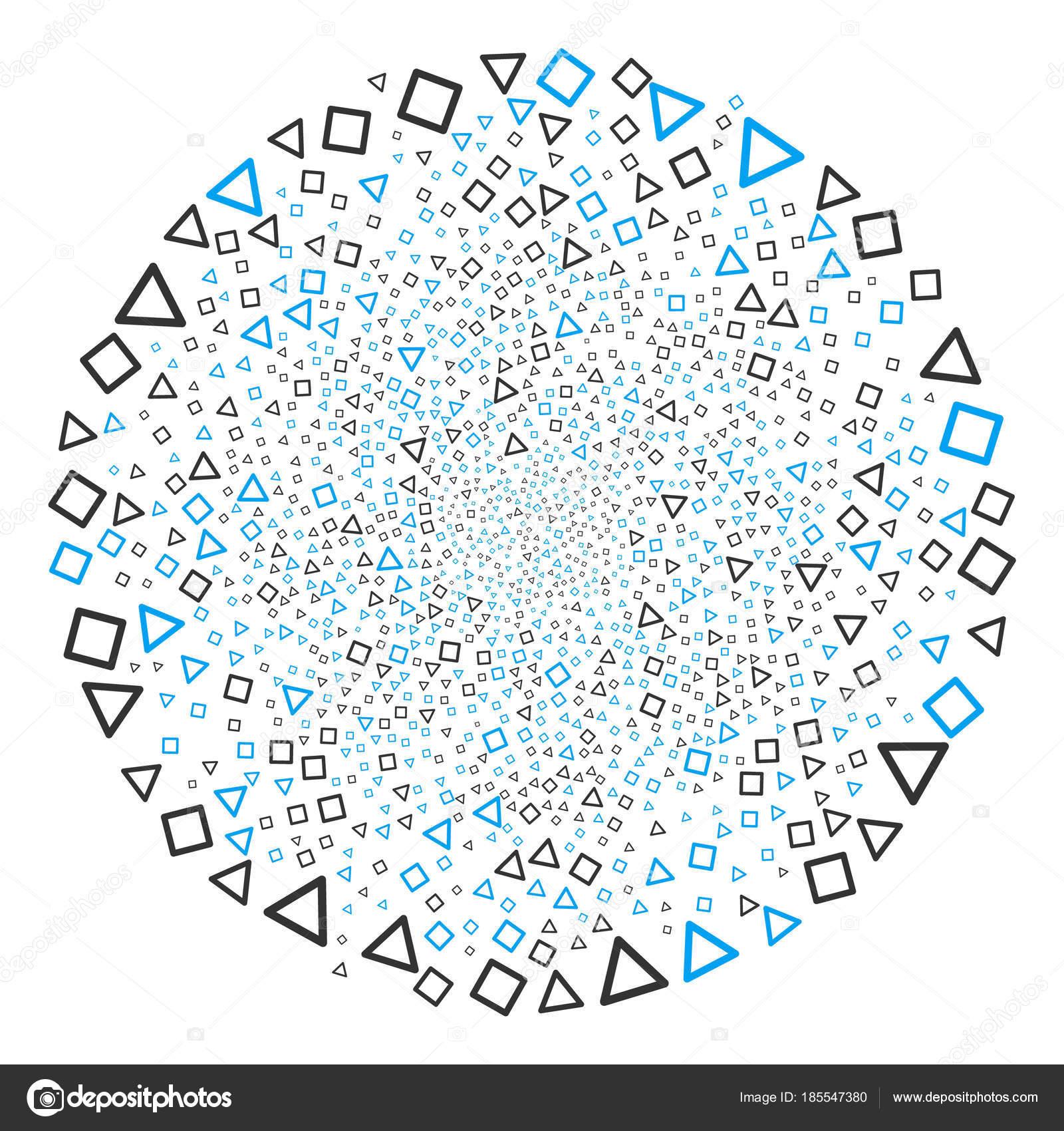 Triángulo y cuadrado Marcos ciclo ráfaga — Vector de stock © ahasoft ...