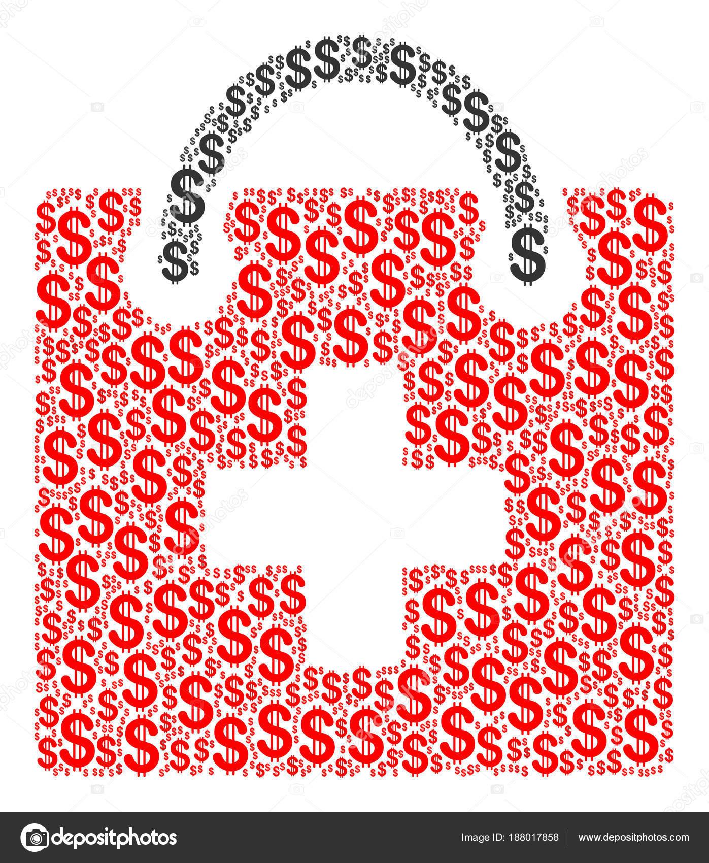 Collage de Kit de primeros auxilios de dólar — Vector de stock ...