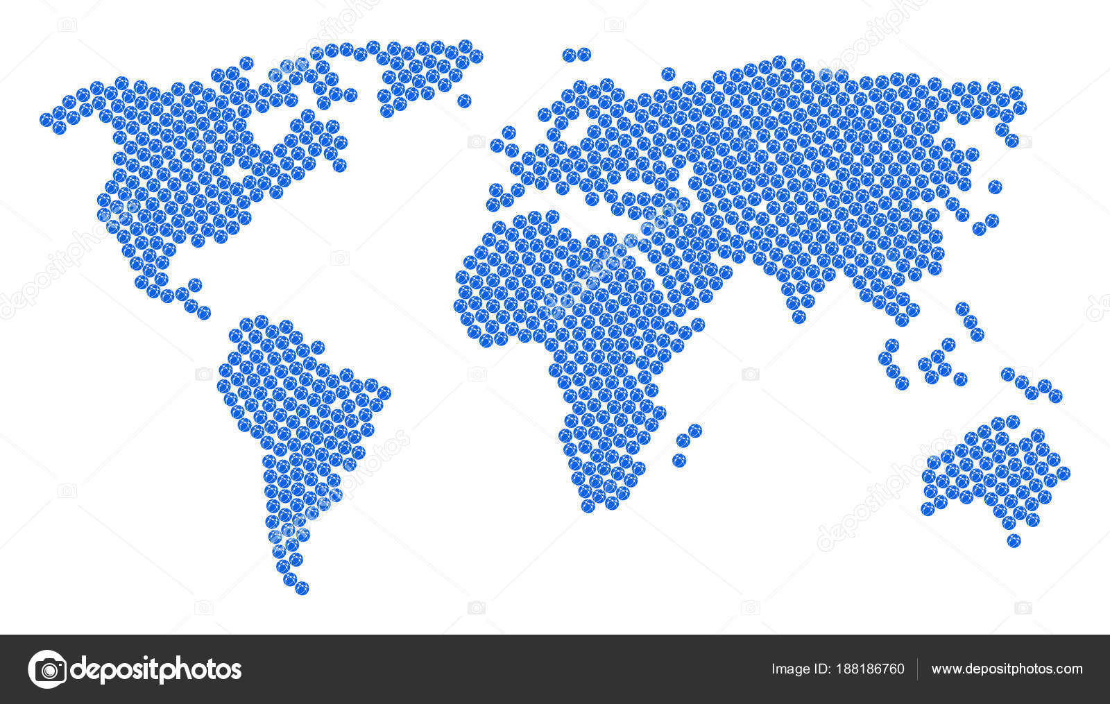 Worldwide map collage of web browser icons stock vector ahasoft worldwide map collage of web browser icons stock vector gumiabroncs Images