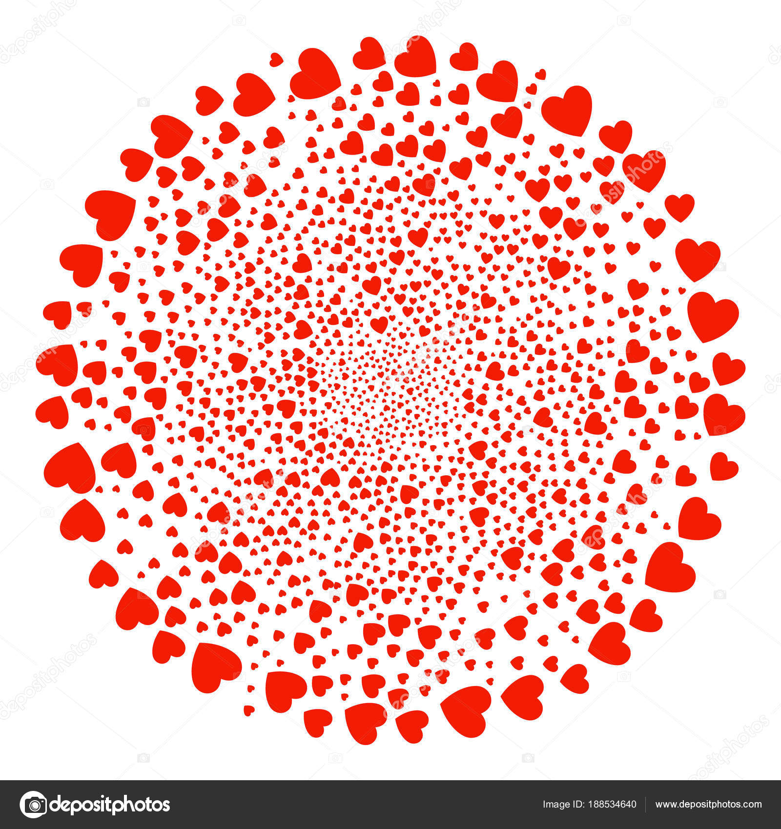 Love Heart Curl Round Cluster Stock Vector Ahasoft 188534640