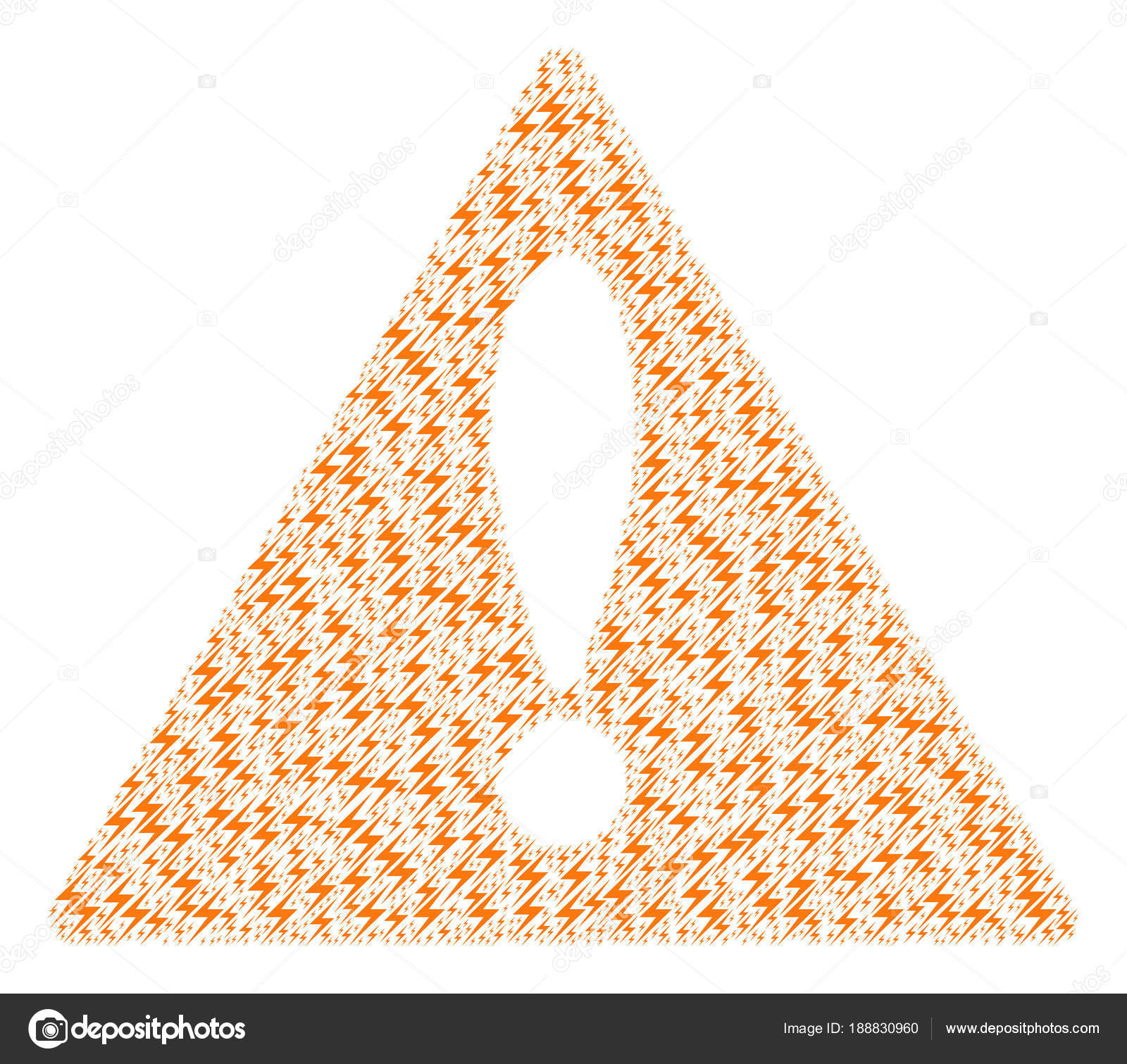 Attention Sign Pattern of Lightning Icons — Stock Vector