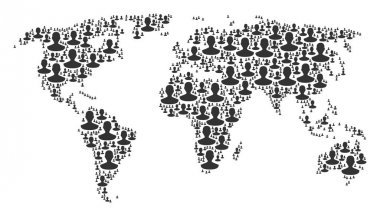 Worldwide Map Pattern of Person Items