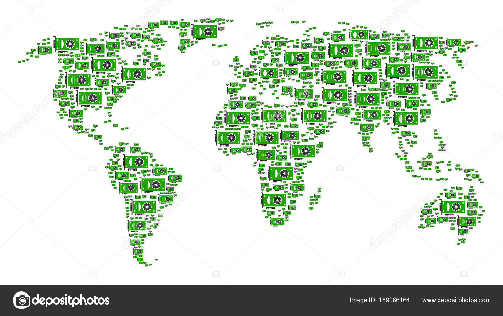 World map mosaic of video gpu card items stock vector ahasoft world map mosaic of video gpu card items stock vector gumiabroncs Choice Image