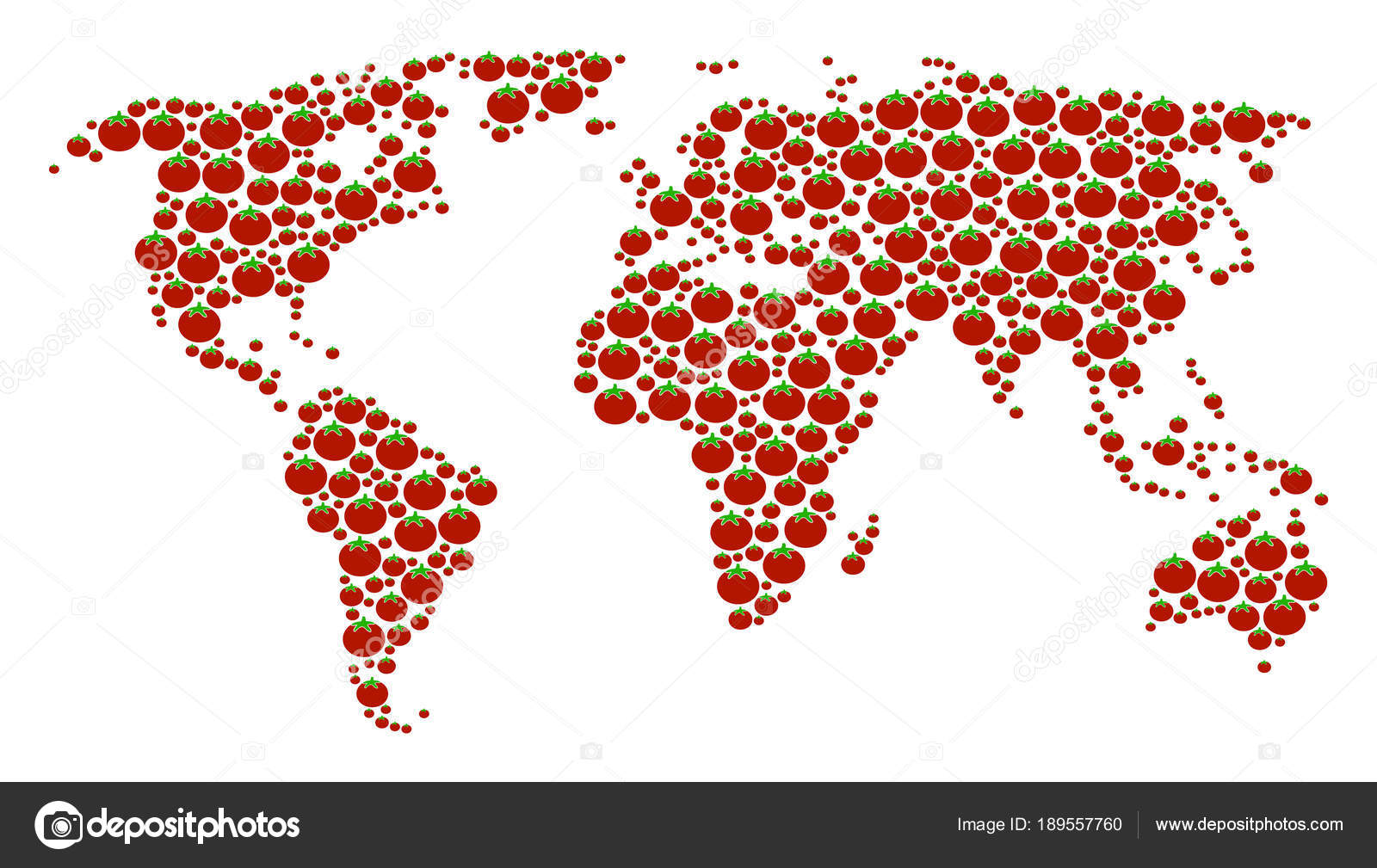 World map collage of tomato stock vector ahasoft 189557760 world map collage of tomato stock vector gumiabroncs Images