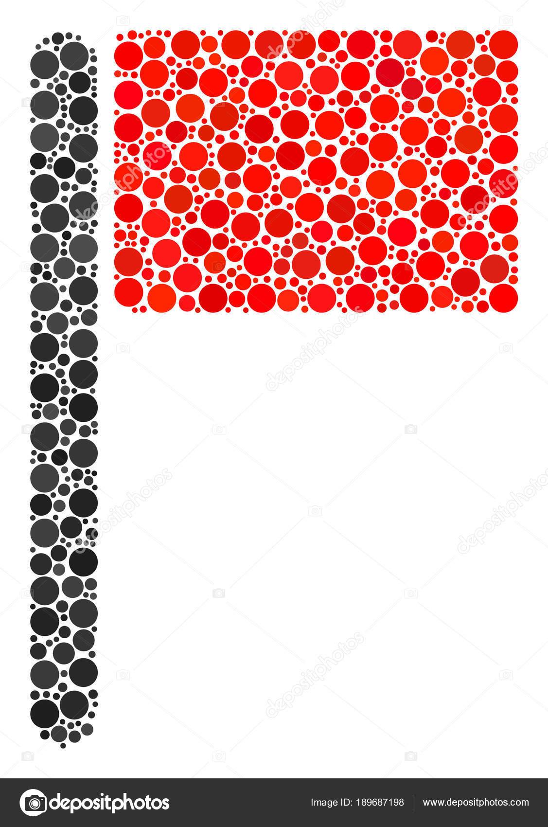 Collage de la bandera de puntos — Archivo Imágenes Vectoriales ...