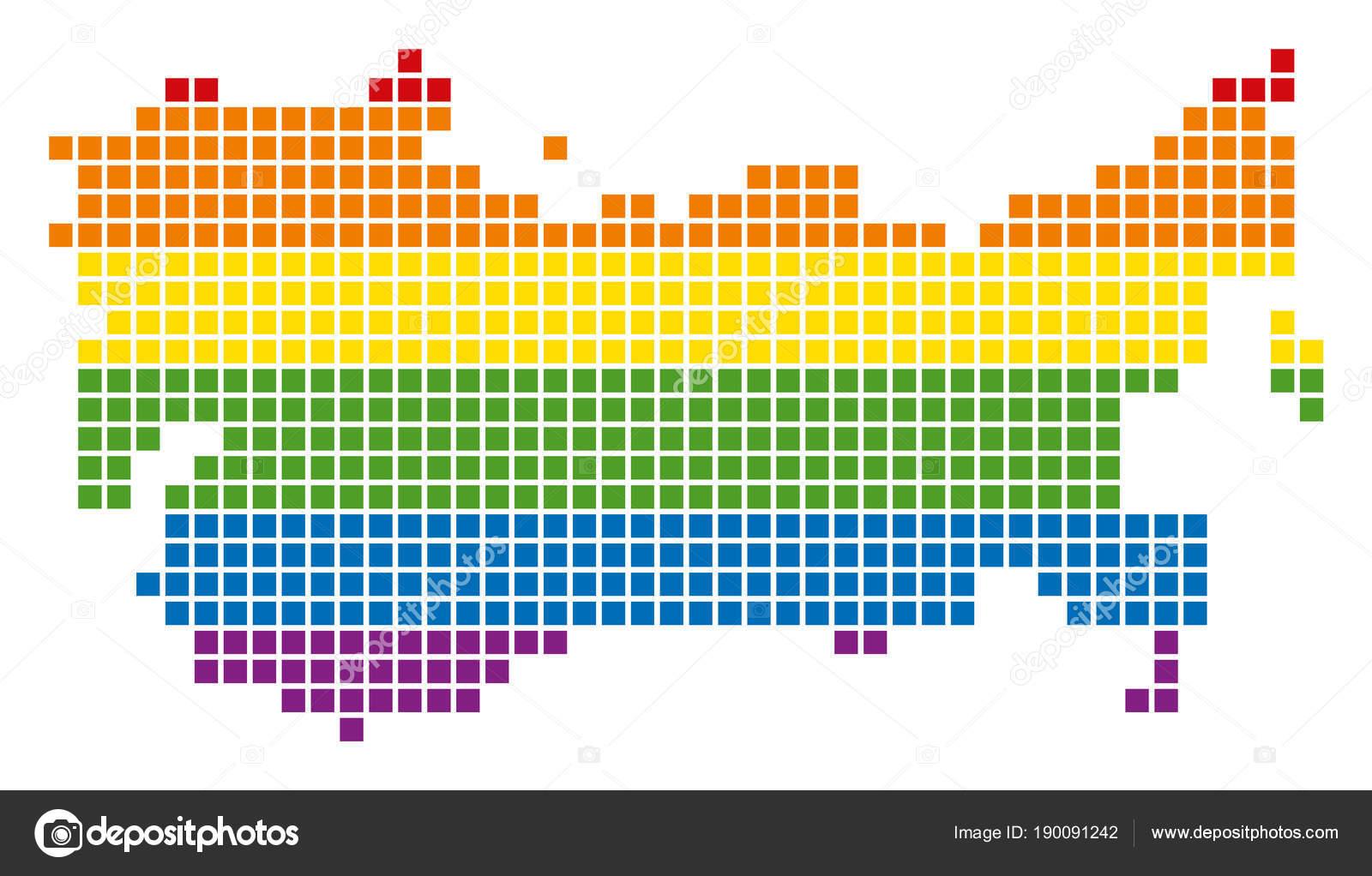 Carte Urss.Carte Urss Spectre Pixel Lgbt Image Vectorielle Ahasoft C 190091242