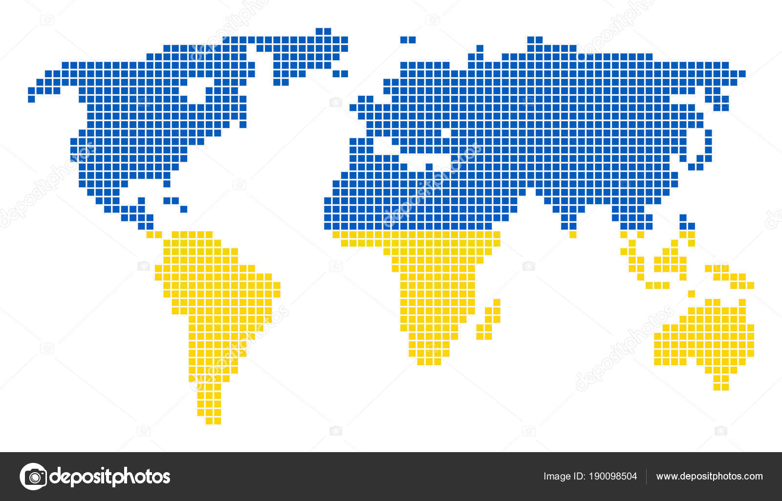 Ukraine colors dot world map stock vector ahasoft 190098504 a dotted pixel world map vector geographic map in ukraine flag colors on a white background ukrainian blue and yellow colored vector abstract pattern of gumiabroncs Gallery