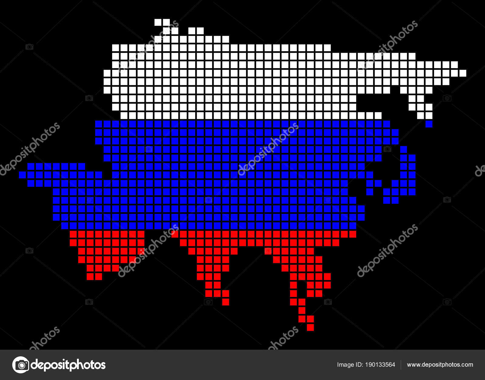 Karte Russland Asien.Russland Farben Dot Asien Karte Stockvektor C Ahasoft