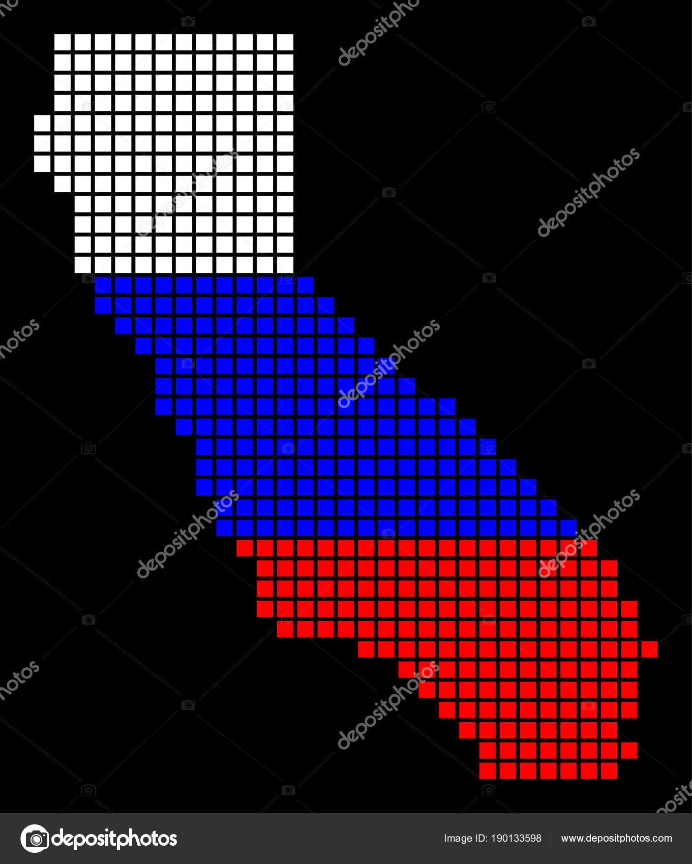 russia colors dot california map stock vector ahasoft 190133598