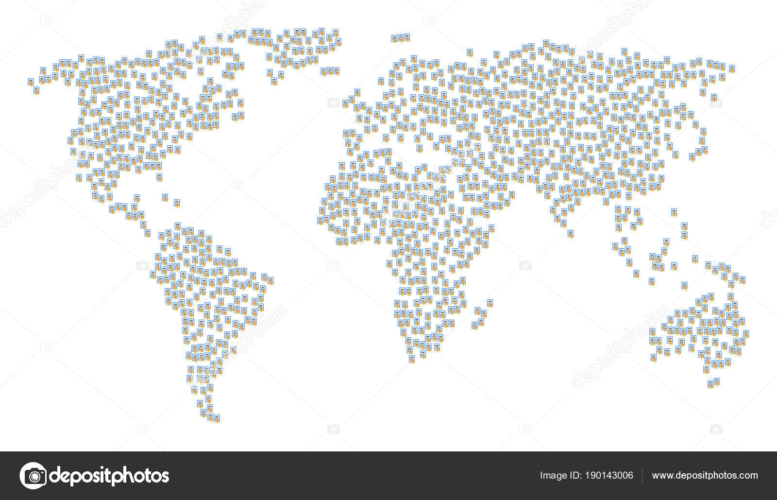 Worldwide map collage of certificate items stock vector ahasoft worldwide map collage of certificate items stock vector gumiabroncs Images