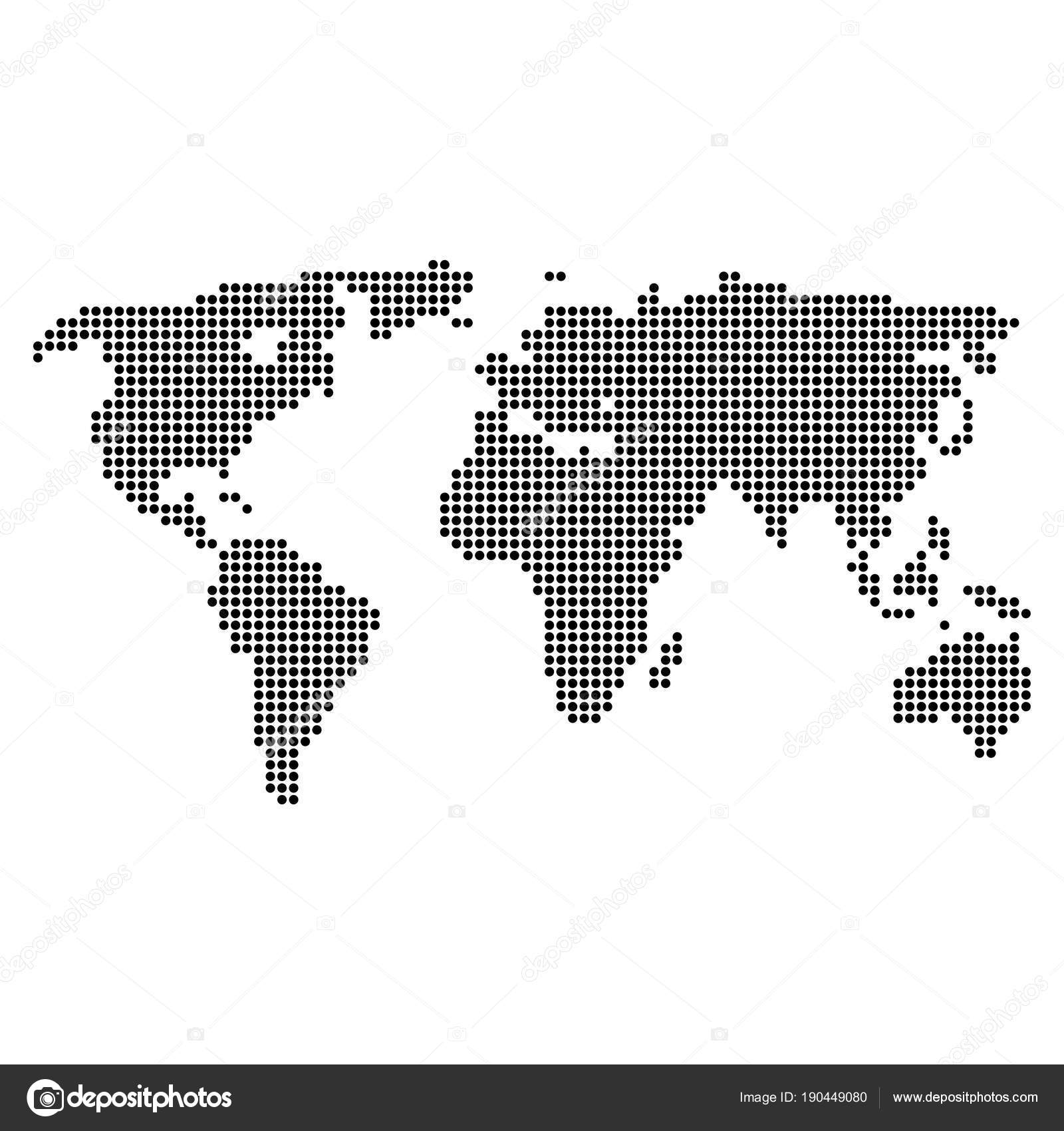 Dotted pixel world map stock vector ahasoft 190449080 dotted pixel world map stock vector gumiabroncs Choice Image