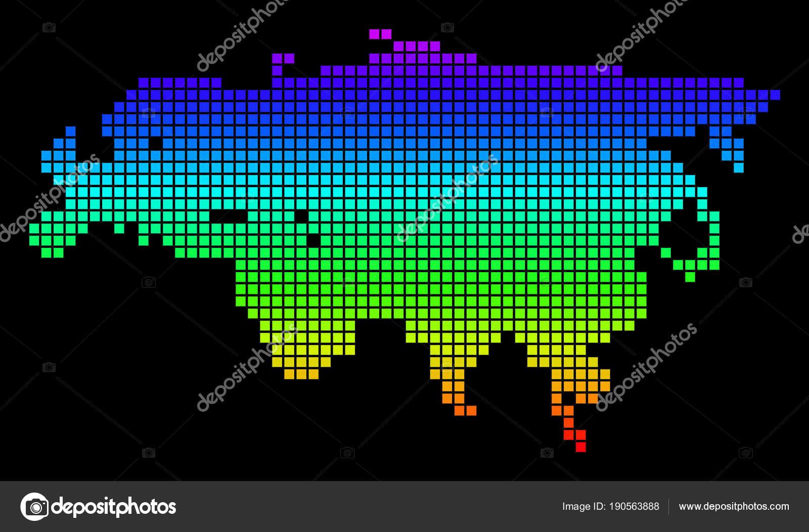 Europa E Asia Cartina.Pixel Di Spettro Punteggiato Di Europa E Asia Mappa