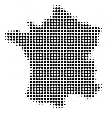 France Map Halftone Icon