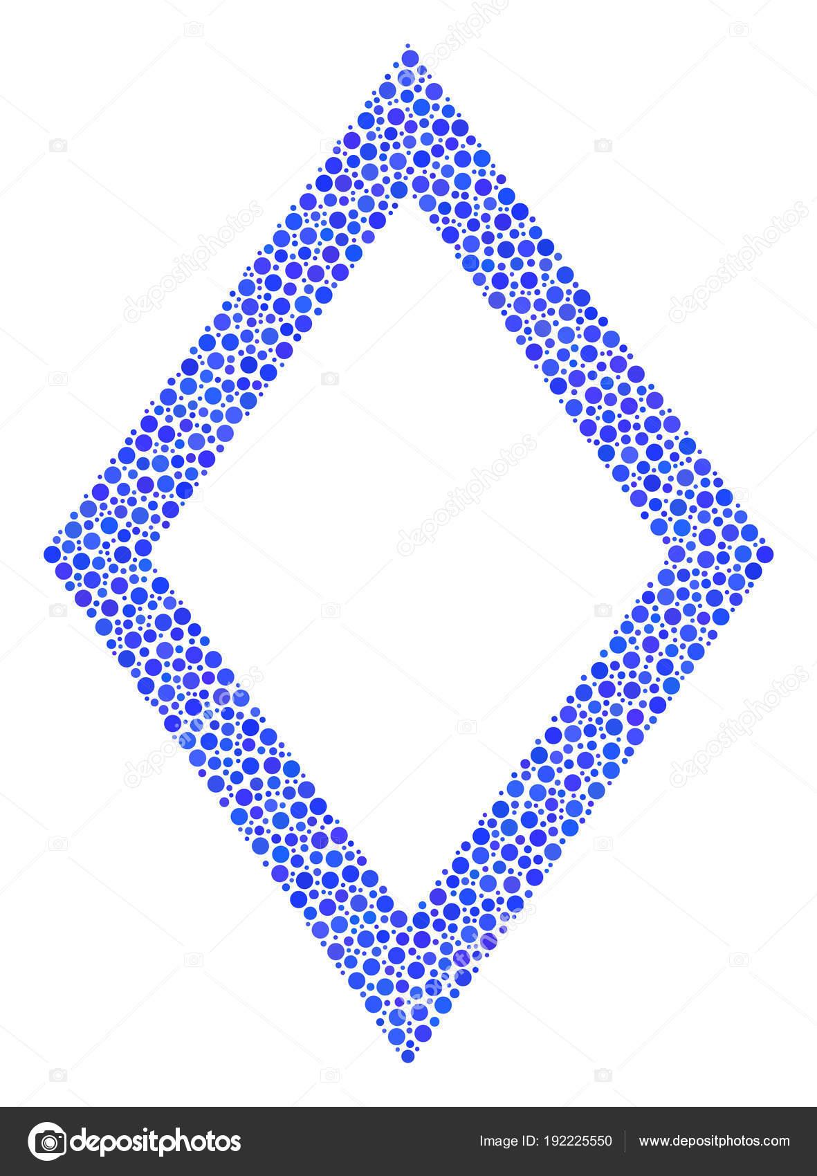 Collage de rombo contorno de círculos pequeños — Vector de stock ...