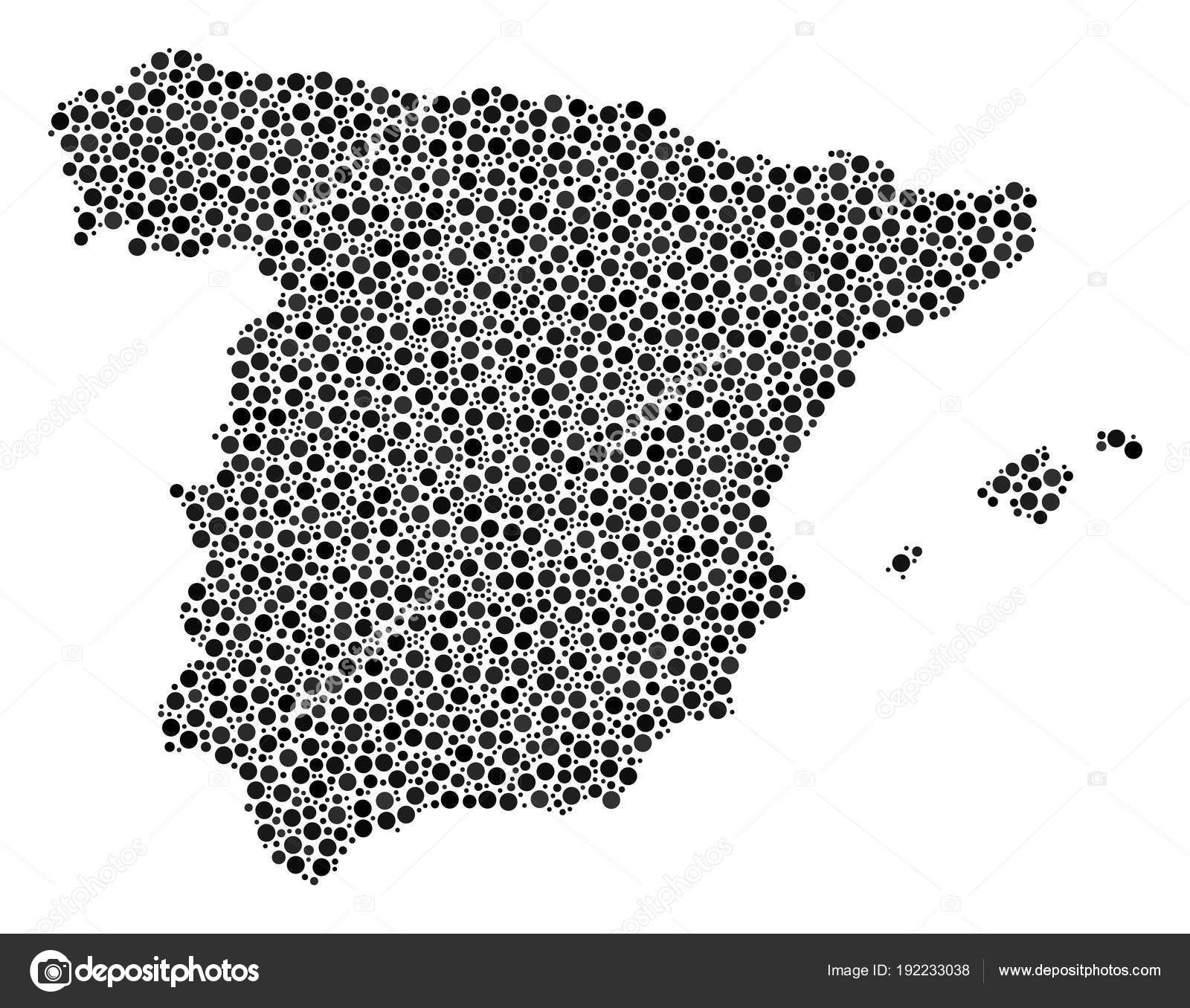 Small Map Of Spain.Spain Map Collage Of Small Circles Stock Vector C Ahasoft 192233038