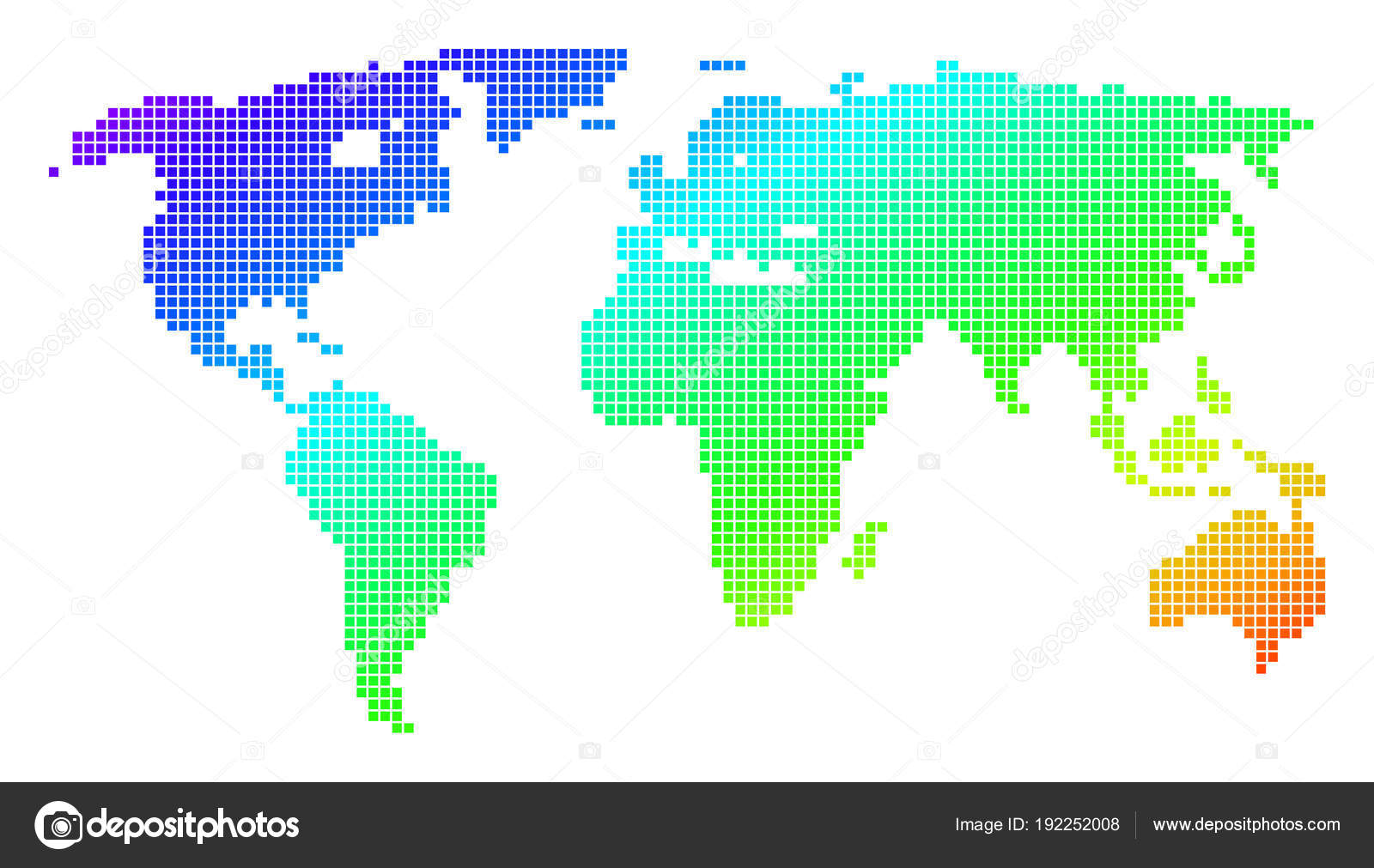 Mapa de mundial de espectro puntos pixel vector de stock ahasoft mapa de mundial de espectro puntos pixel vector de stock gumiabroncs Image collections