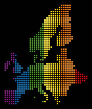 Spectrum Dotted LGBT European Union Map
