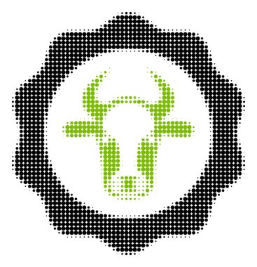 Beef Certificate Halftone Icon