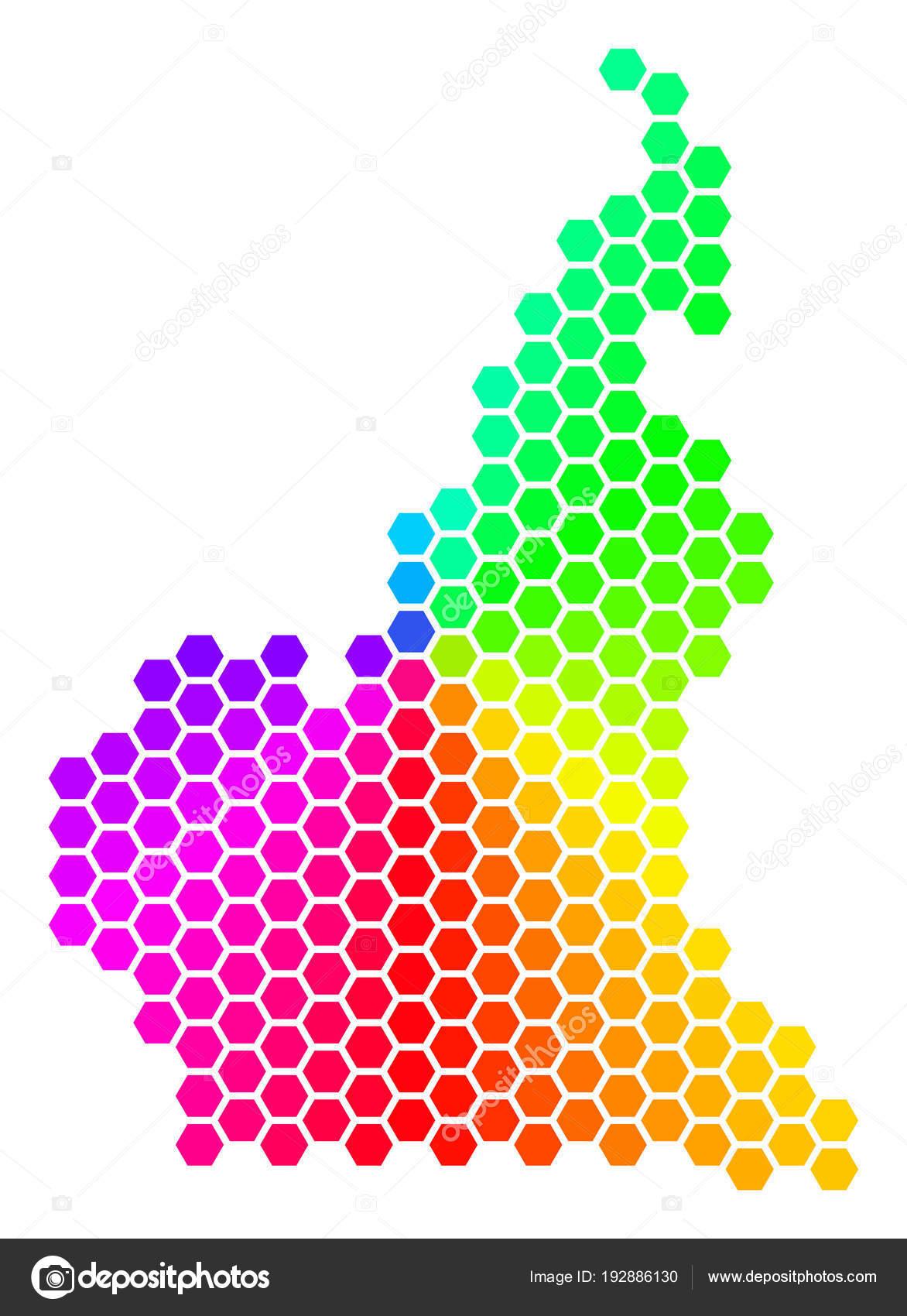 Spectrum Hexagon African Cameroon Map — Stock Vector © ahasoft ...