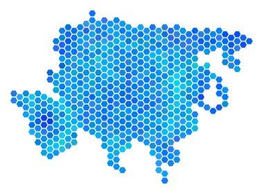 Blue Hexagon Asia Map