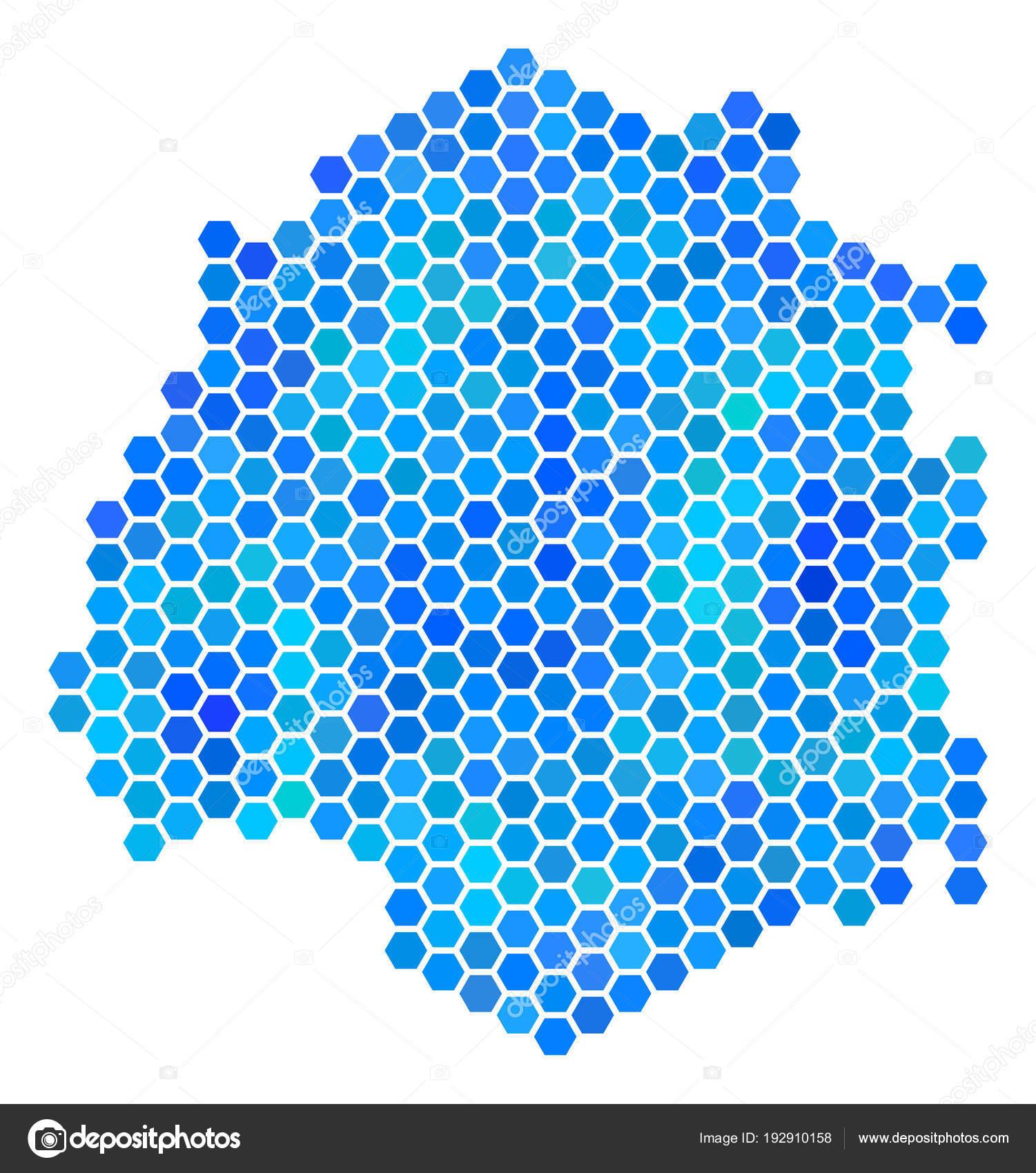 Thassos Greece Map.Blue Hexagon Thassos Greek Island Map Stock Vector C Ahasoft