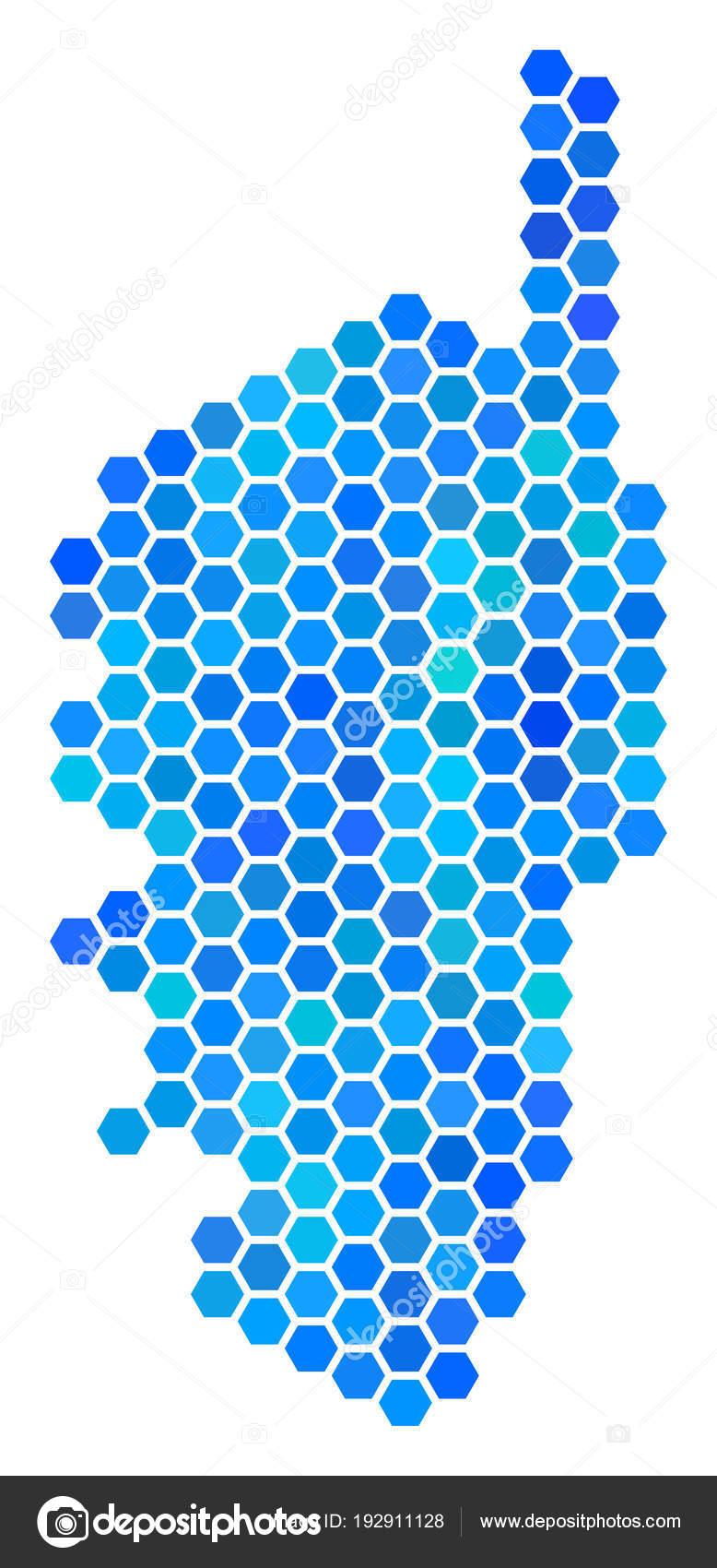 Carte Corse Fond Blanc.Carte Bleu Hexagone France Corse Image Vectorielle Ahasoft