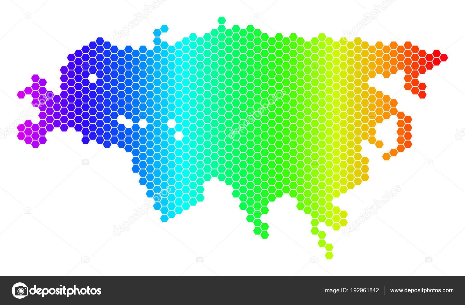 Europa E Asia Cartina.Illustrazione Cartina Europa Asia Spettro Esagono Europa
