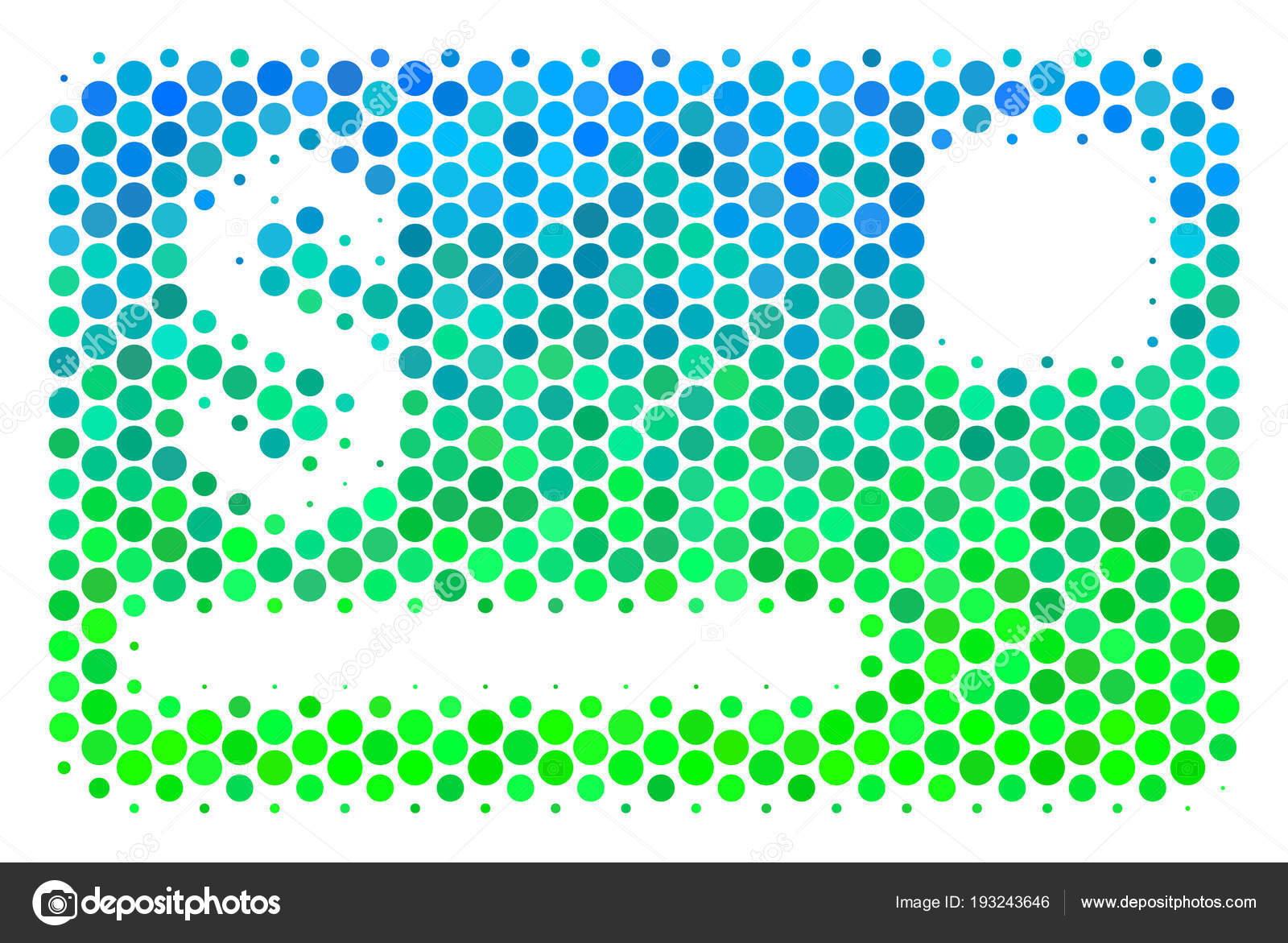halftone blue green credit card icon stock vector ahasoft 193243646