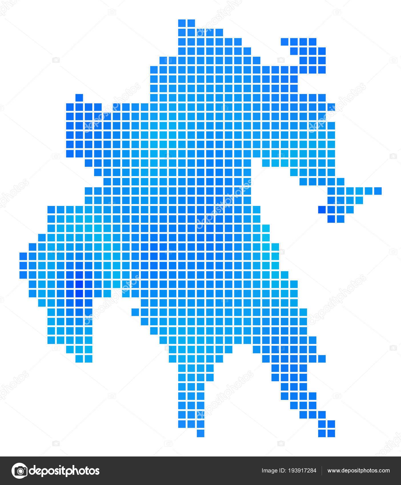 Peloponnes Karte Regionen.Blauer Punkt Peloponnes Halbinsel Karte Stockvektor Ahasoft