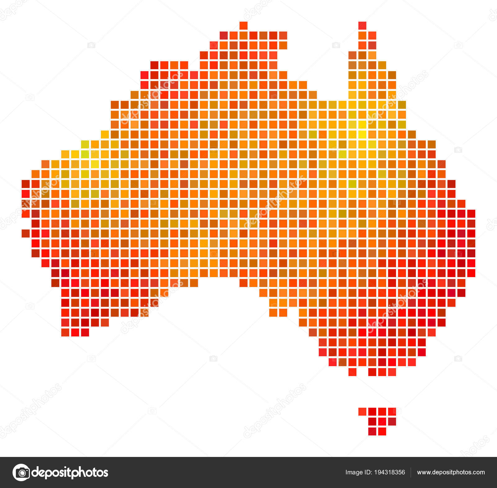 Dotted Fire Australia Map — Stock Vector © ahasoft #194318356