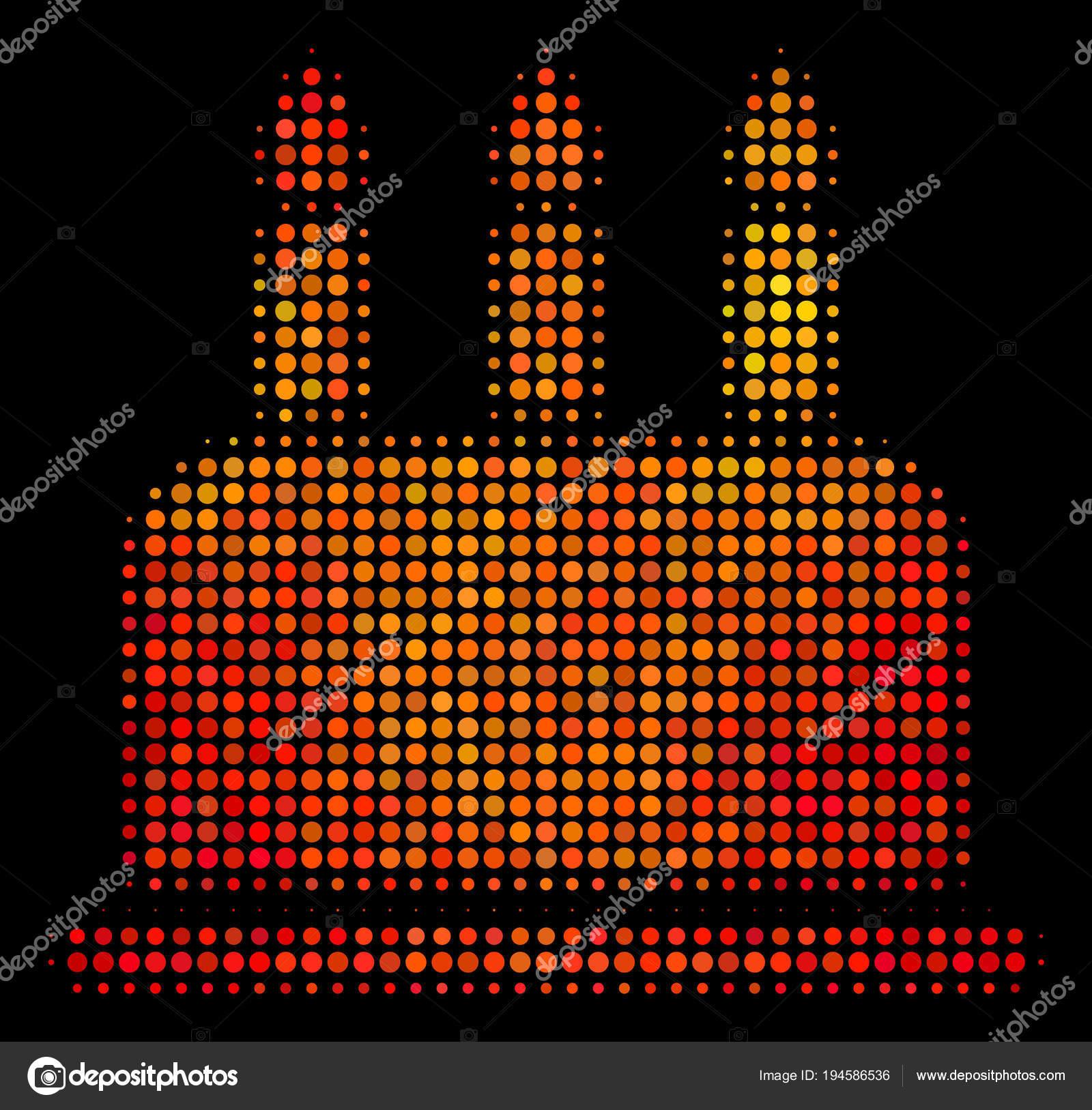 Icône De Gâteau Anniversaire En Pointillés Lumineux Image