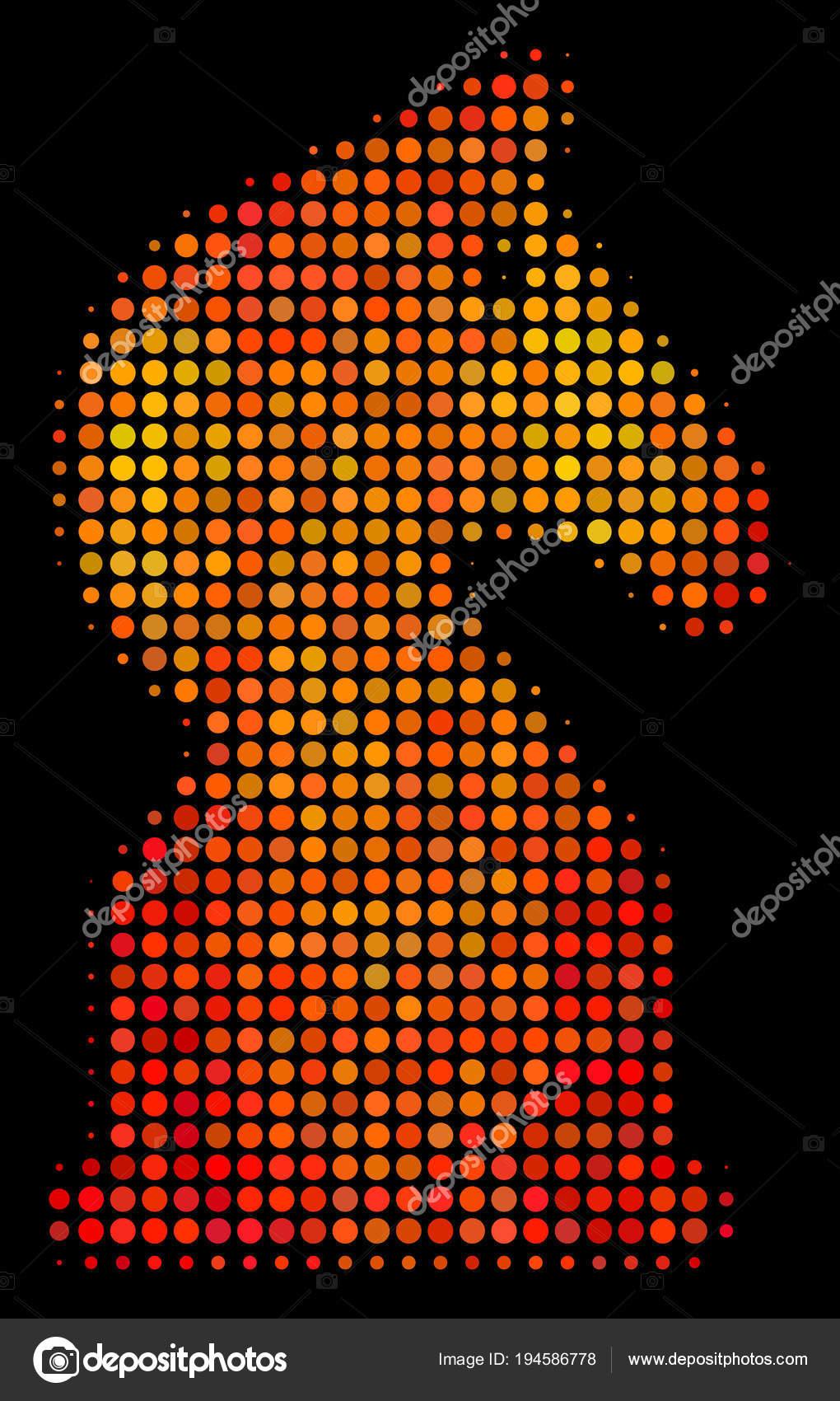 Icône De Cheval Déchecs Pixel Brillant Image Vectorielle